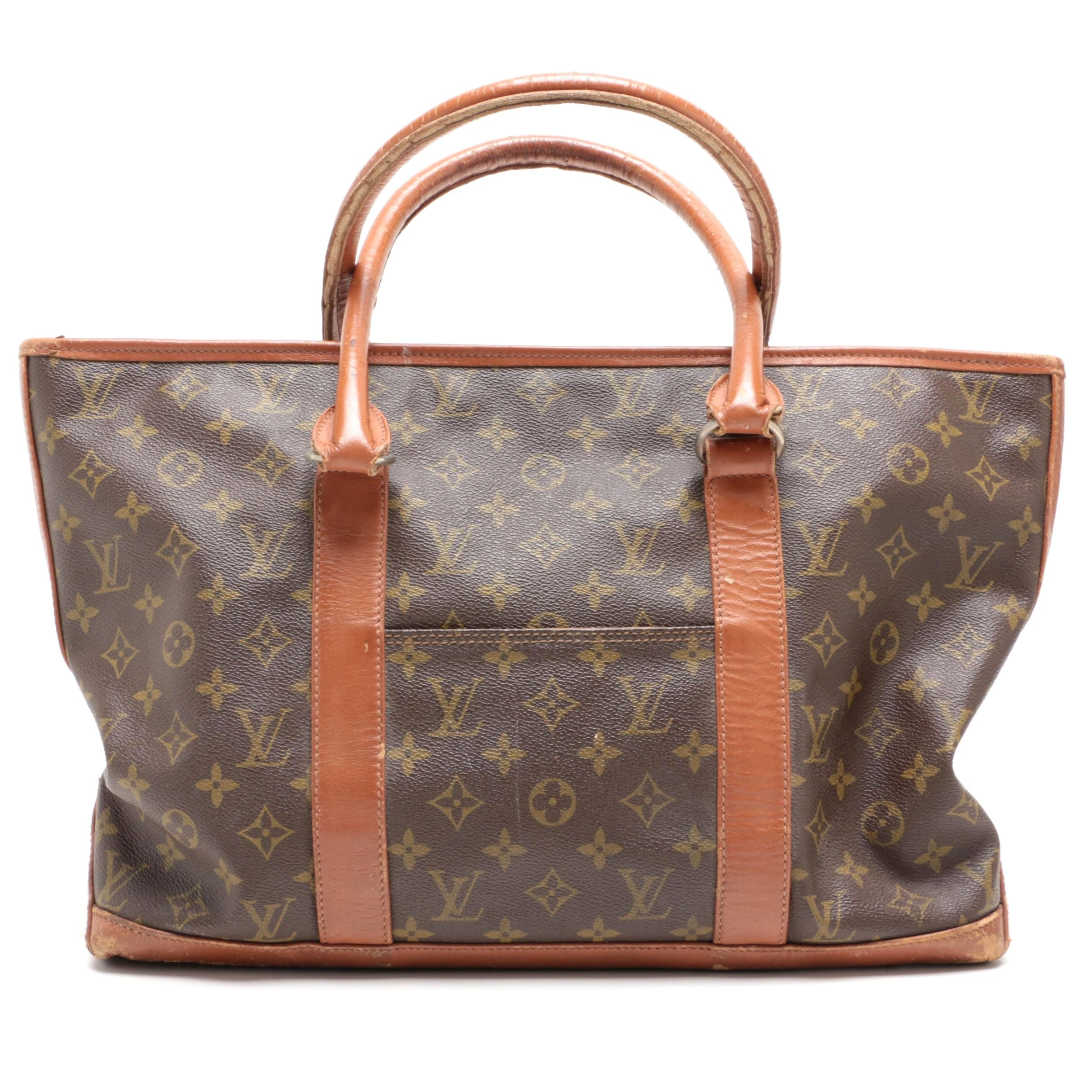 The French Company for Louis Vuitton Monogram Canvas Top Handle Tote Handbag