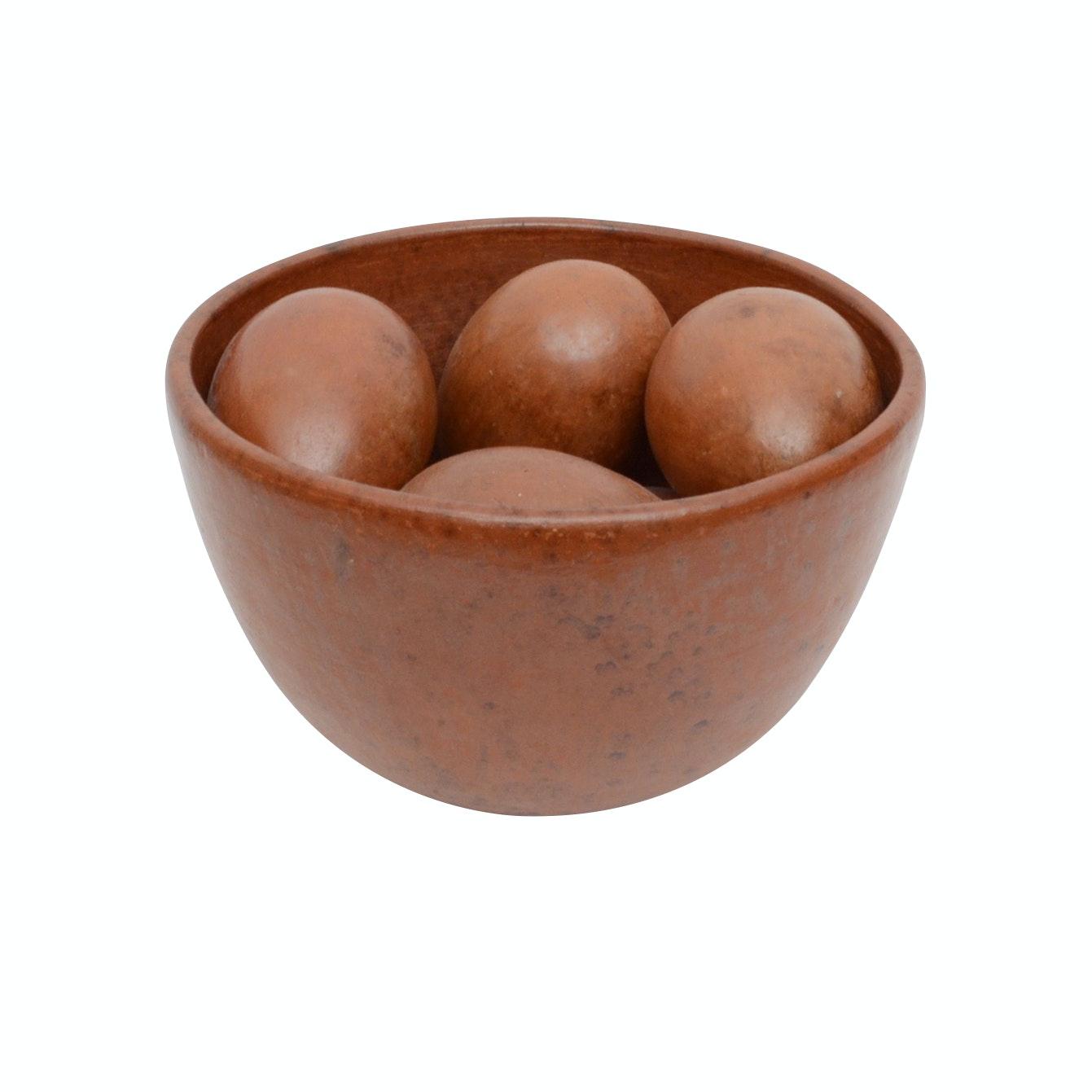 Arhaus Furniture Decorative Bowl with Eggs