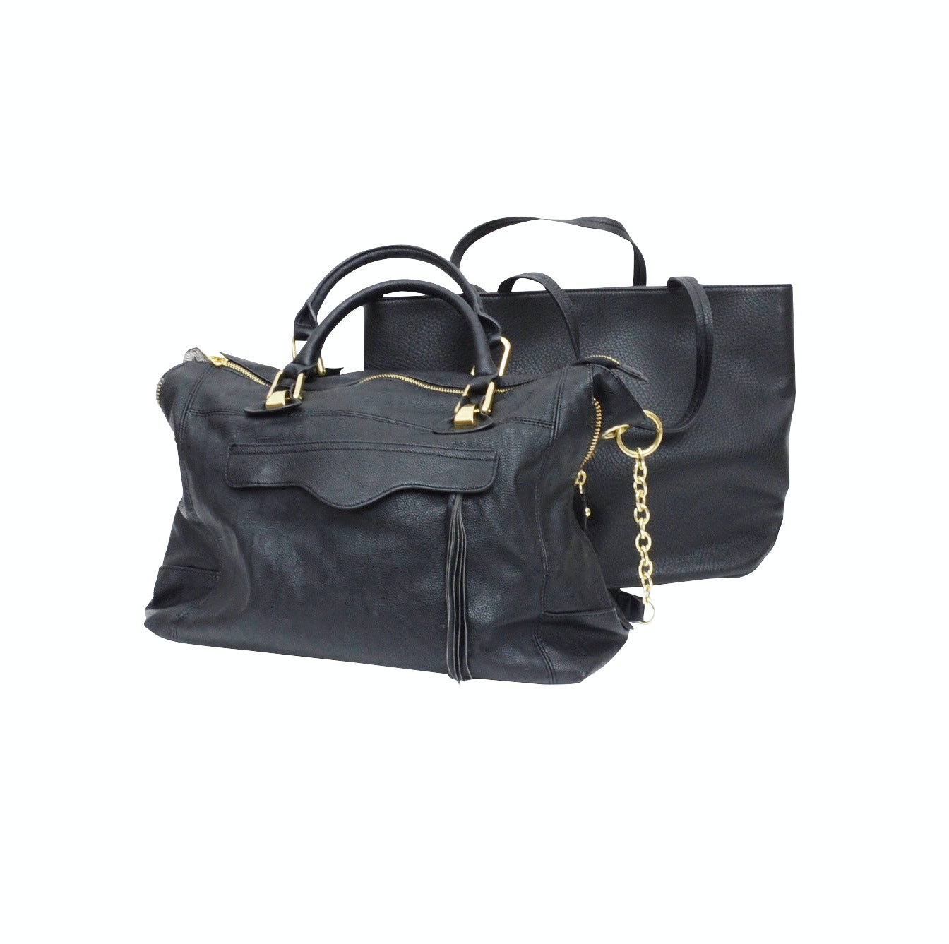 Steve Madden and Kenneth Cole Reaction Black Shoulder Bags