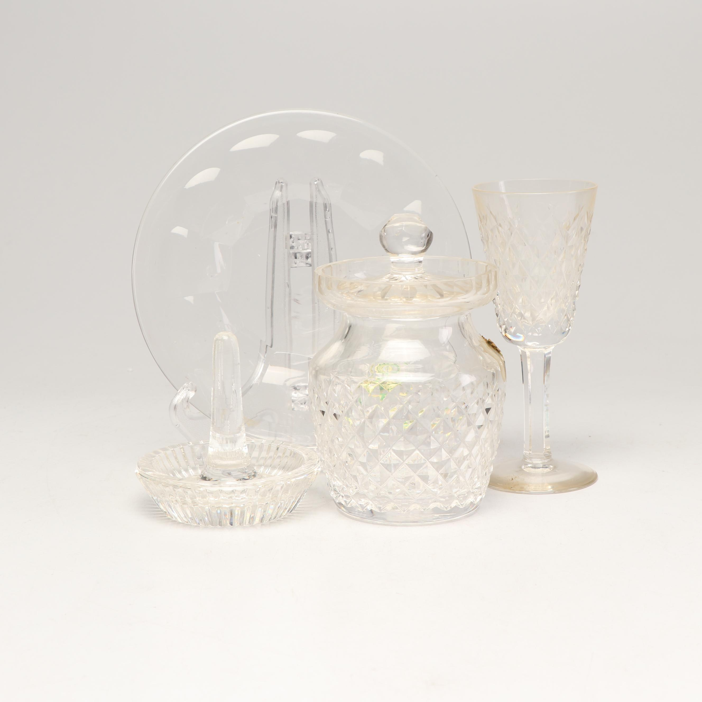 Waterford Crystal Jam Jar, Ring Holder, Dish and Cordial Glass