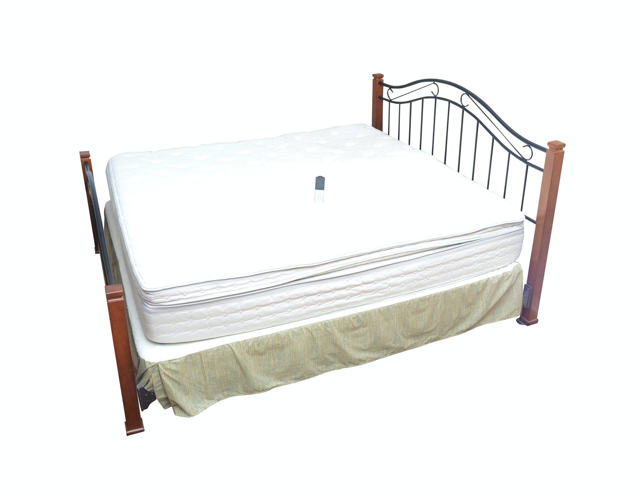 King Size Bed Frame with Sleep Number Mattress and Box Spring (Size King)