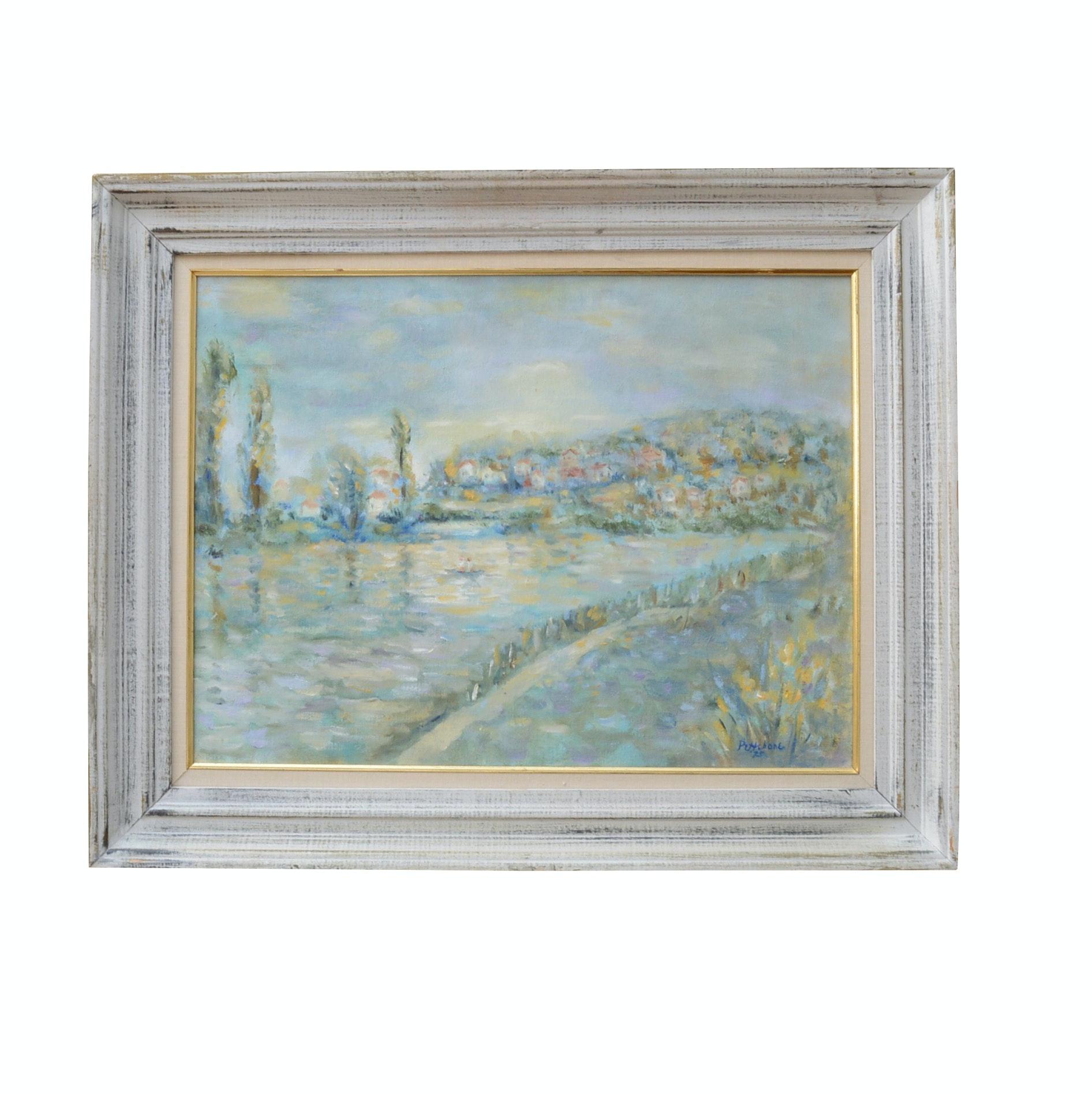 Impressionist Style Acrylic Painting