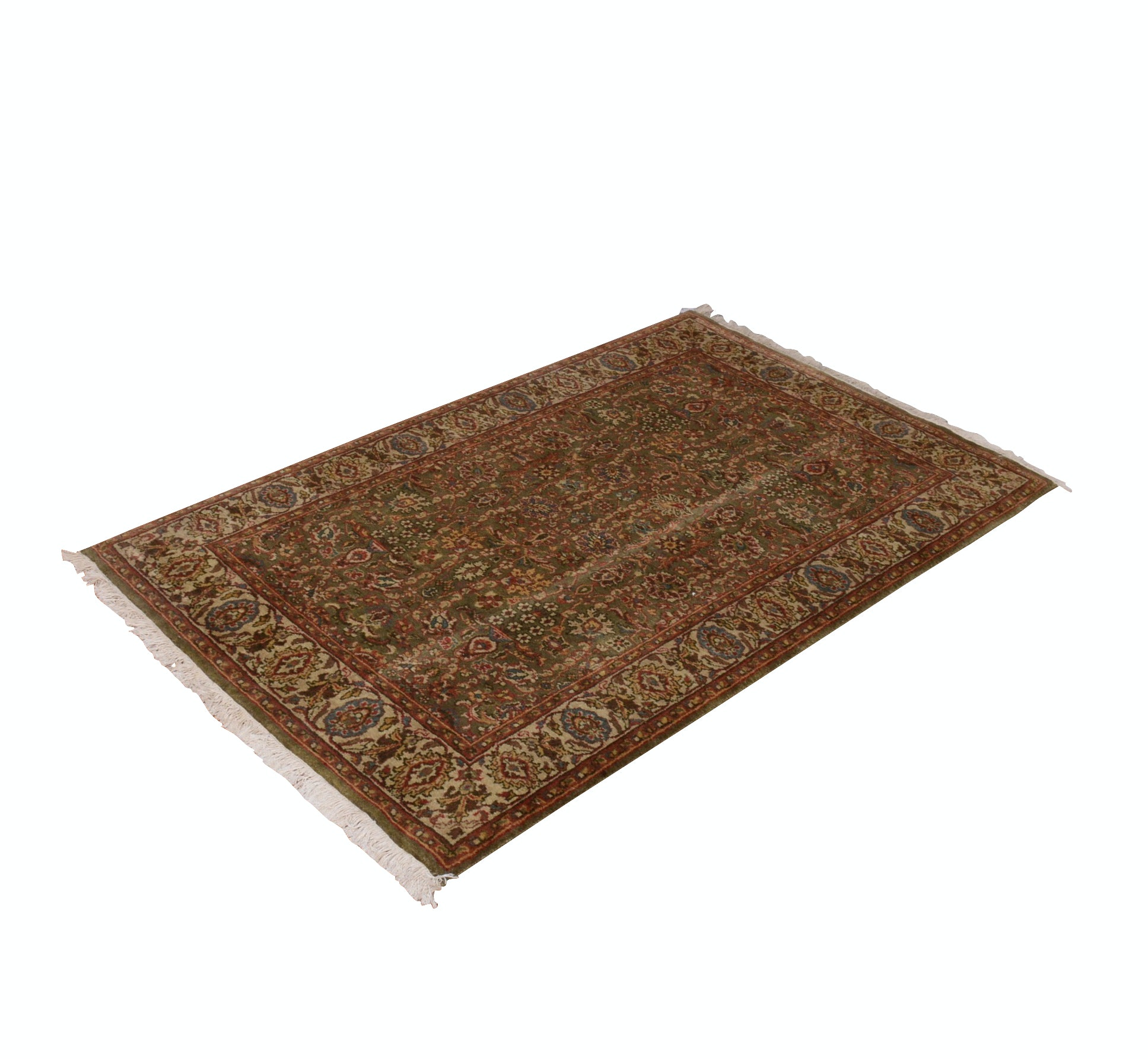 "H.A.G. Indian Hand-Knotted ""Tabriz"" Wool Rug"
