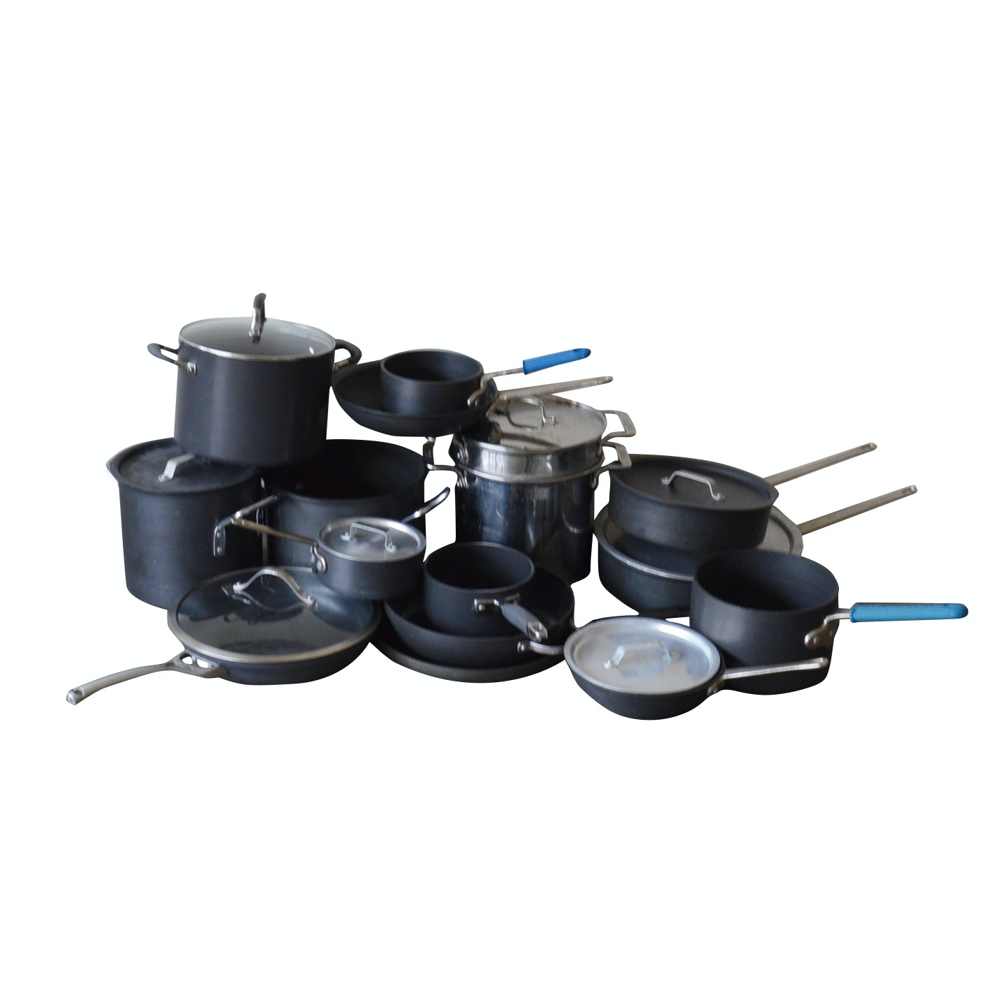 Collection of Calphalon, All Clad and More Pots and Pans