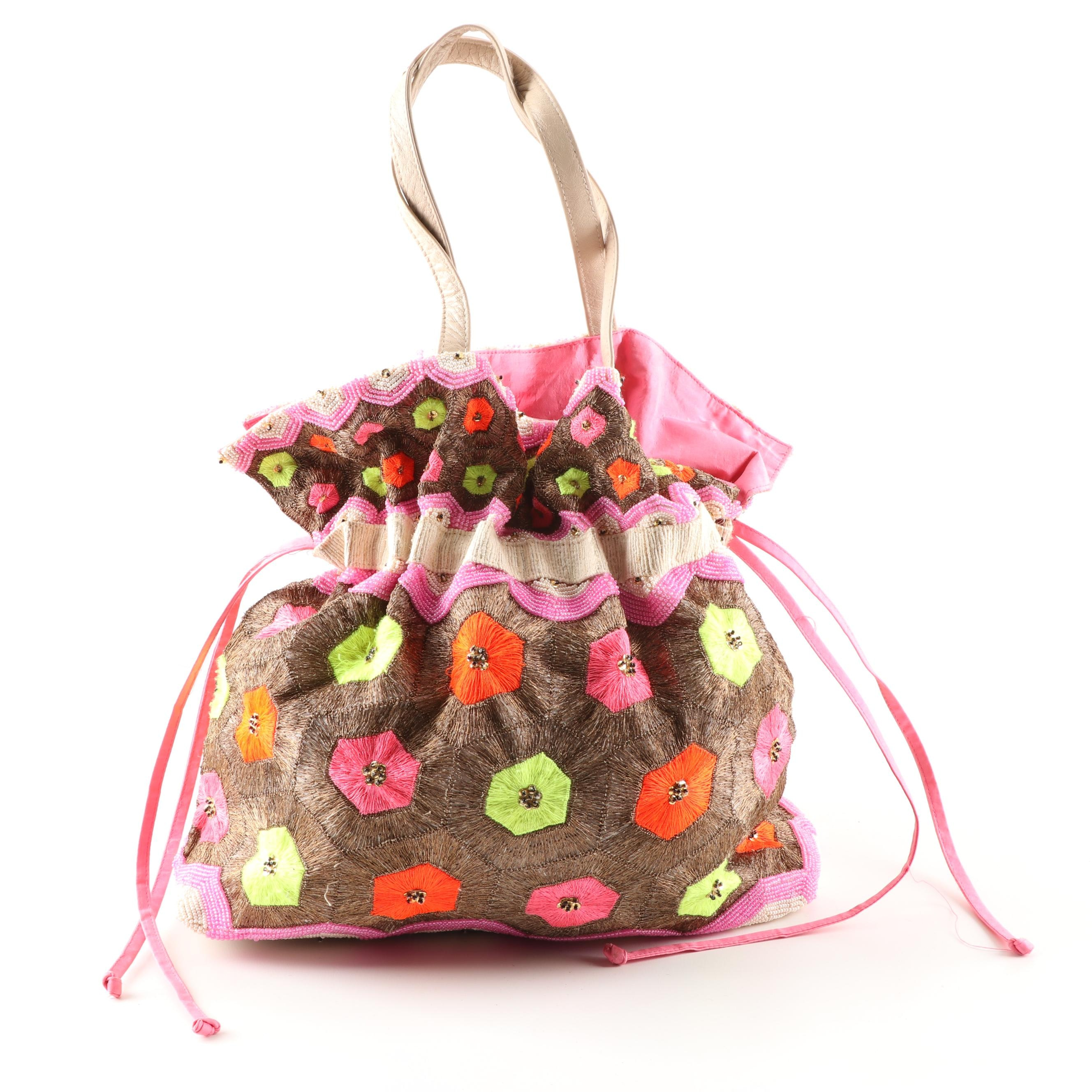 Matthew Williamson Embroidered and Beaded Tote Bag