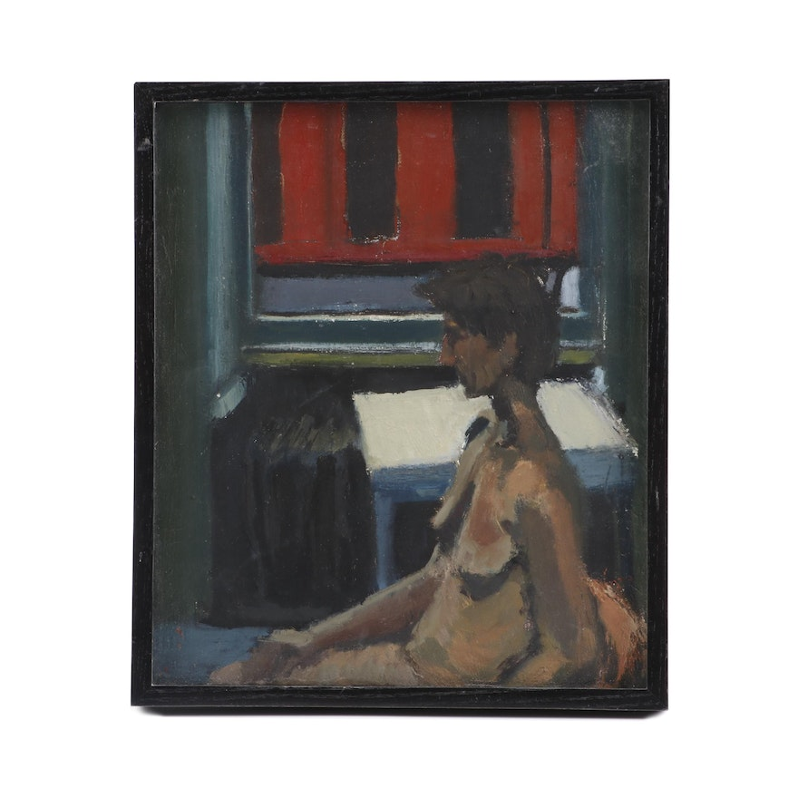 Clevenger 1991 Oil Painting of a Reclining Nude