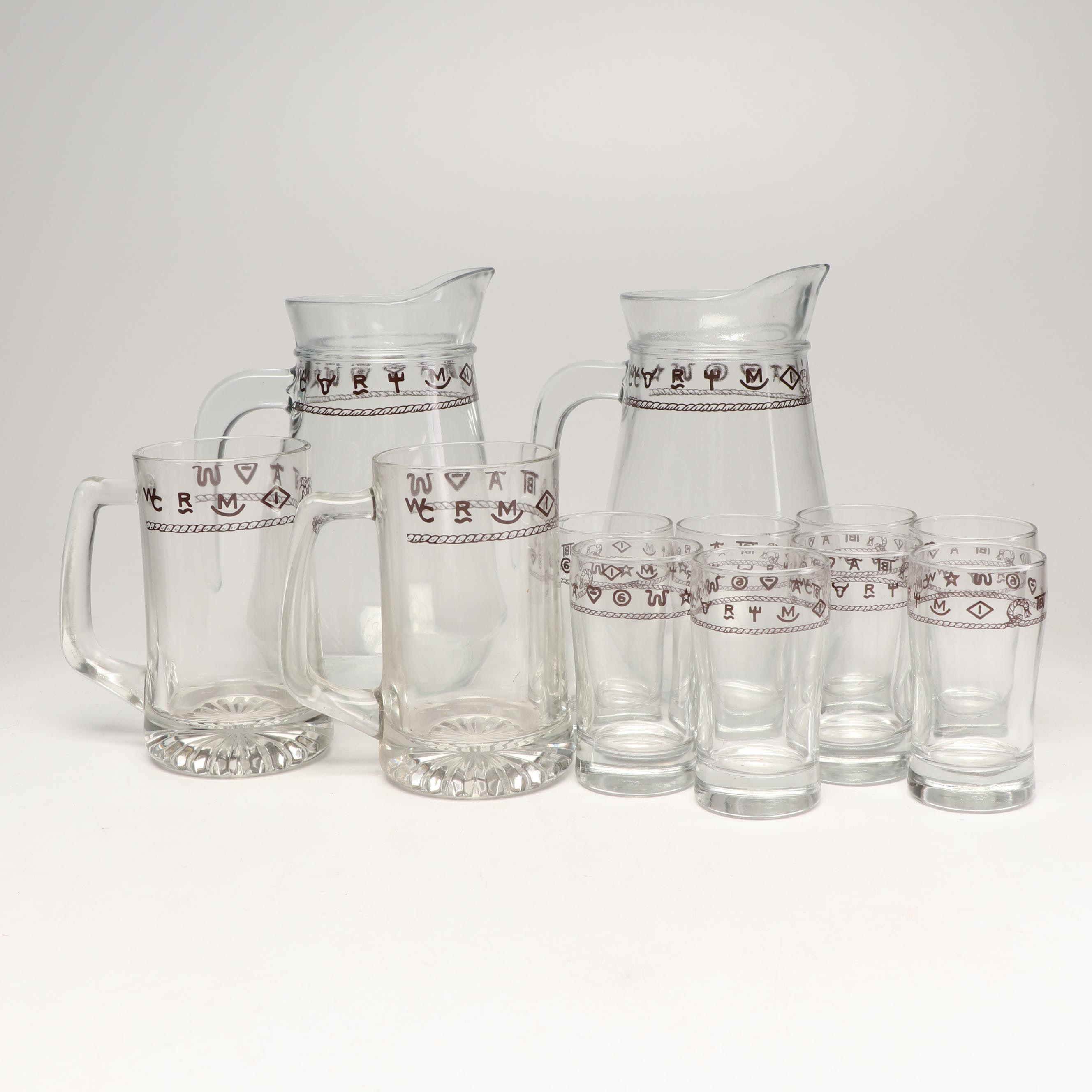 """""""Westward Ho"""" Style Drink-ware and Pitchers"""