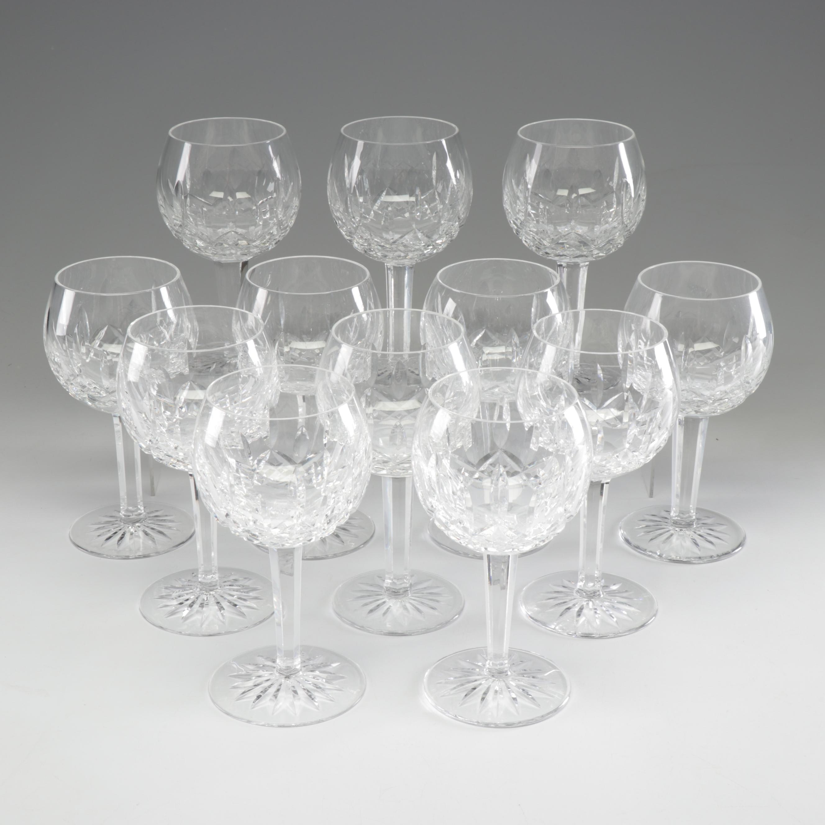 """Waterford Crystal """"Lismore"""" Balloon Wine Glasses"""