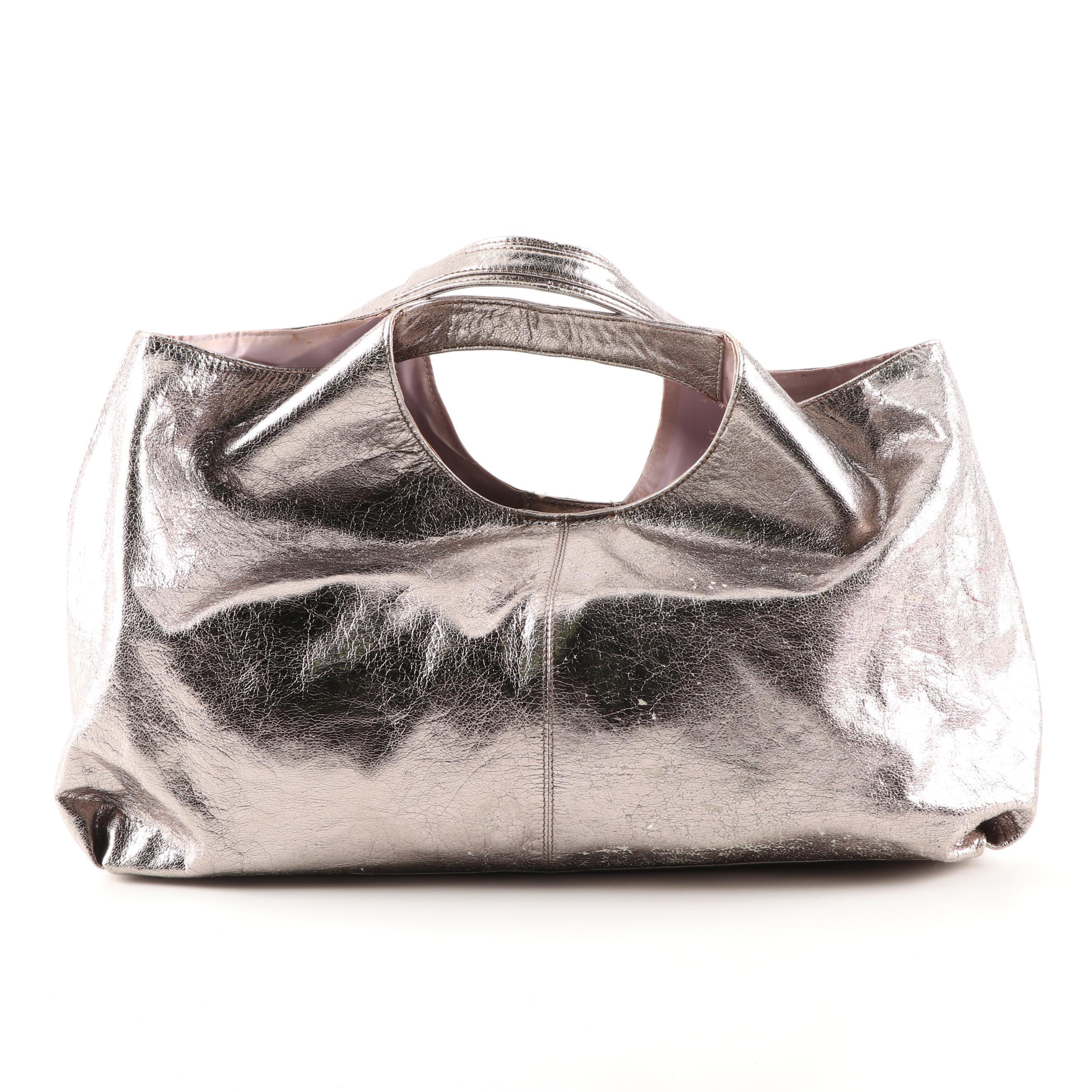Tano New York Metallic Leather Satchel