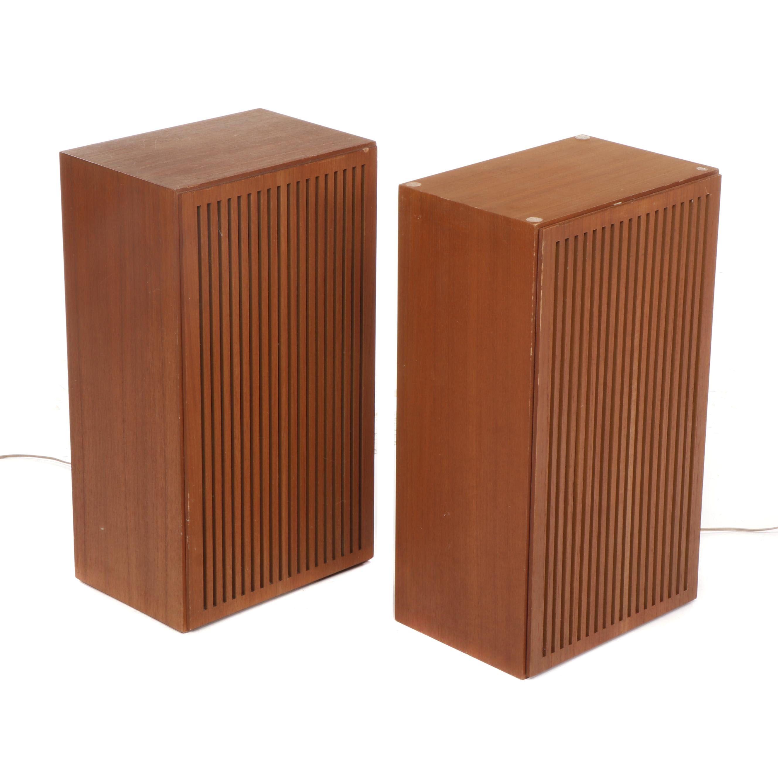 Pair of Grundig Mid Century Modern HiFi Loudspeaker Boxes