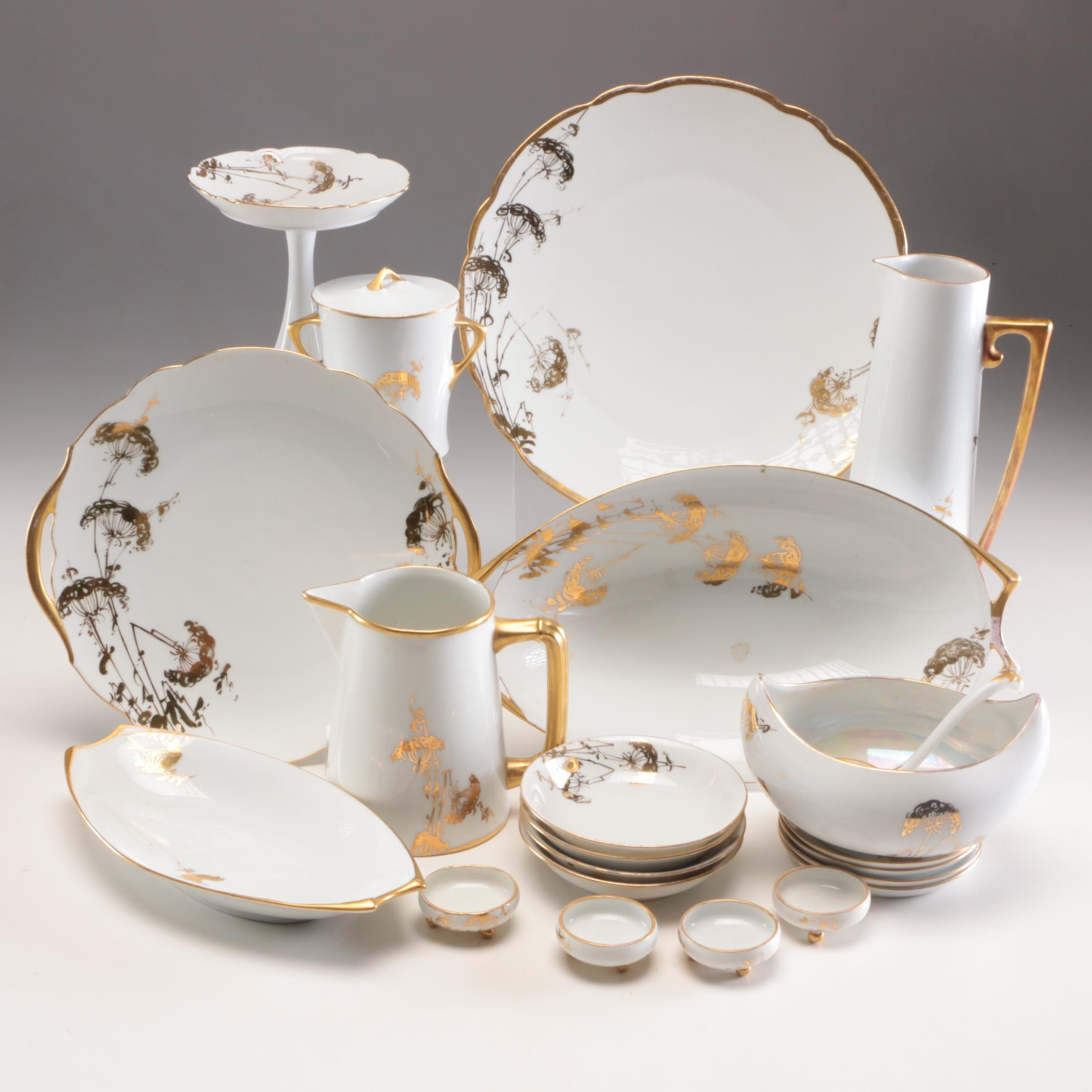 "Hitschenreuther Selb Bavaria ""Favorite"" Porcelain China Dinnerware"