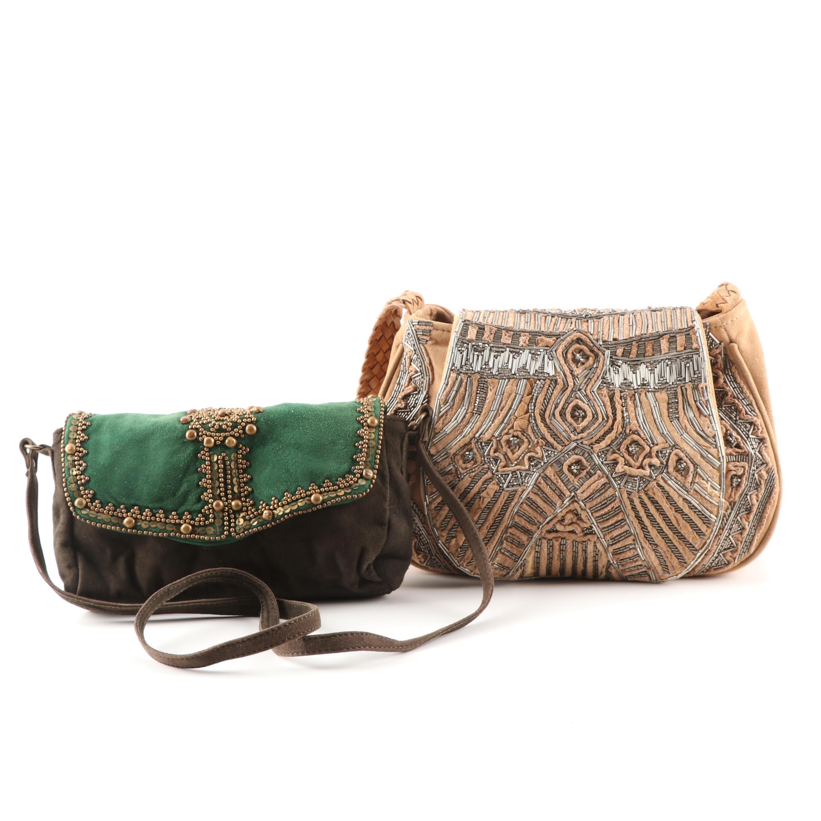 Antik Batik Beaded Suede Handbags