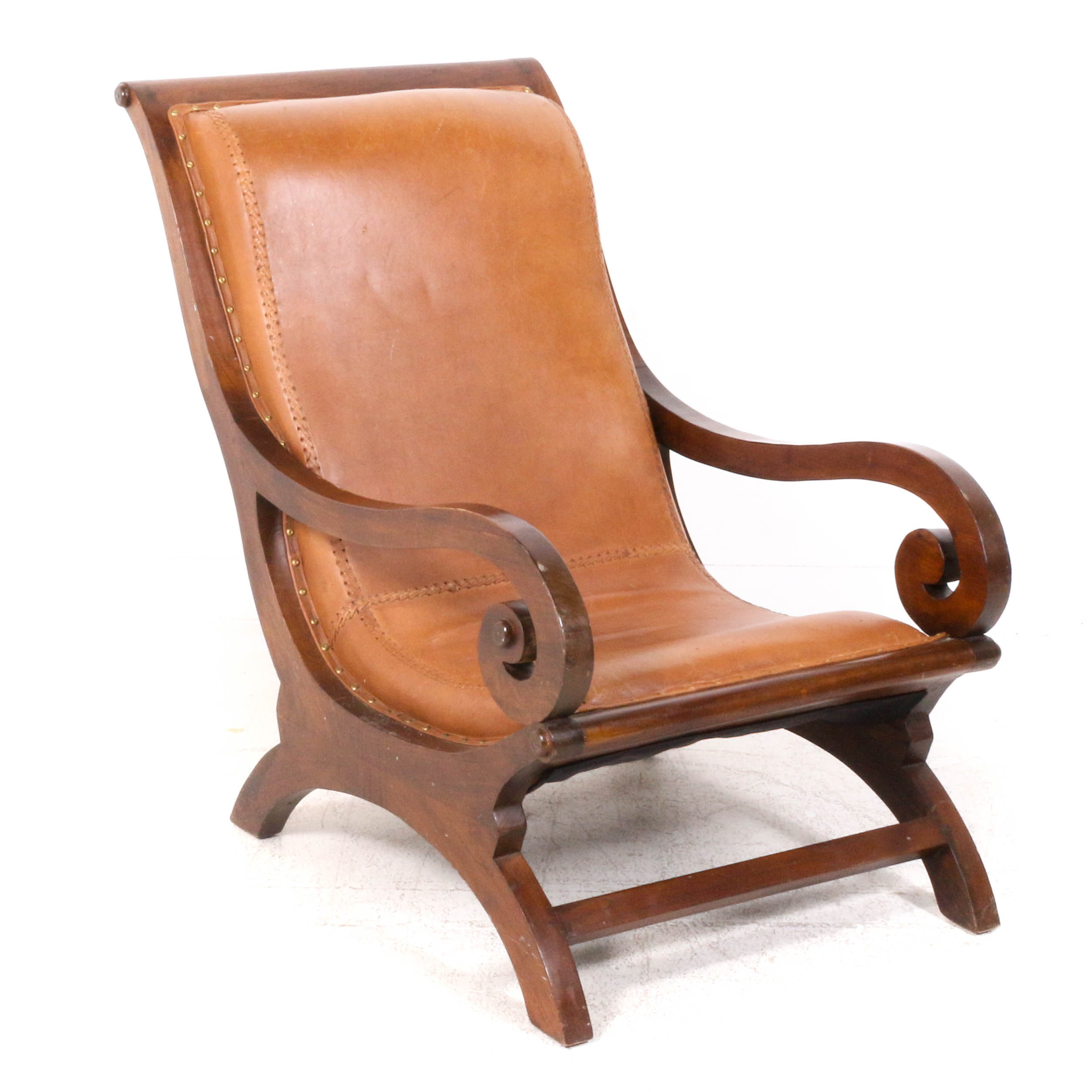 American Empire Style Lounge Chair