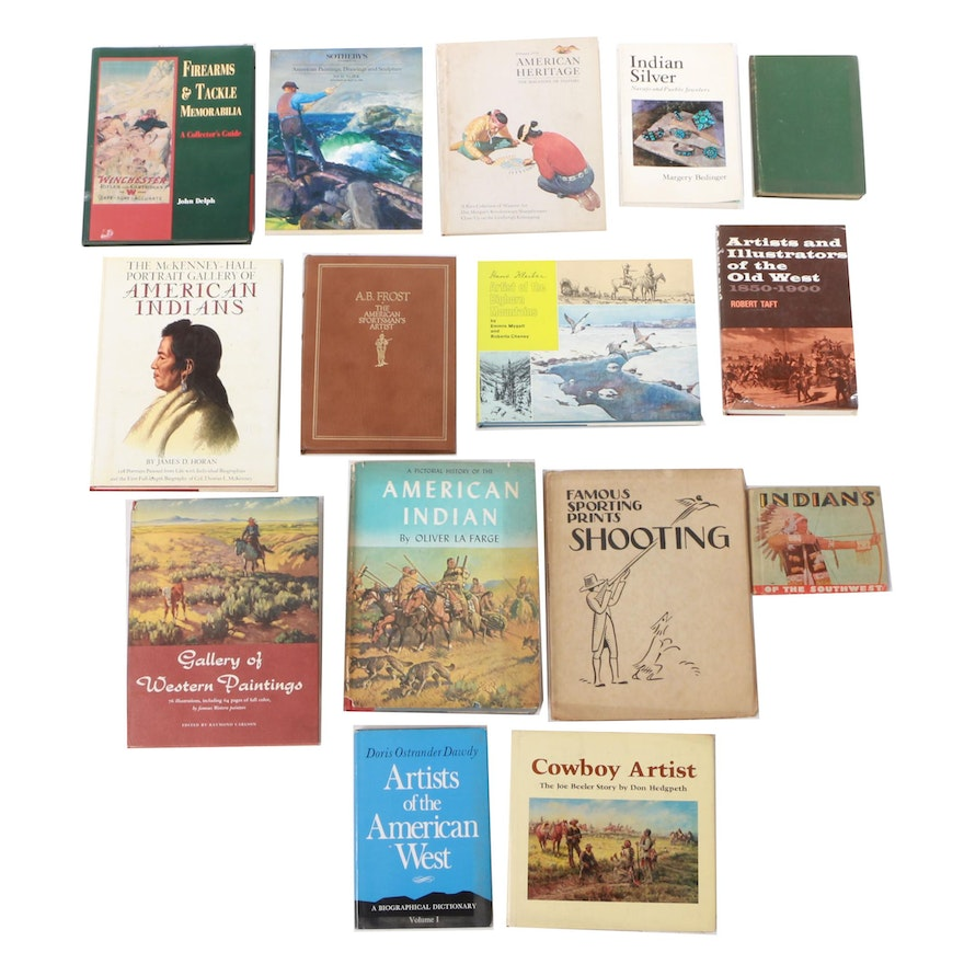 Vintage Books on Native Americans, Art, and Sport