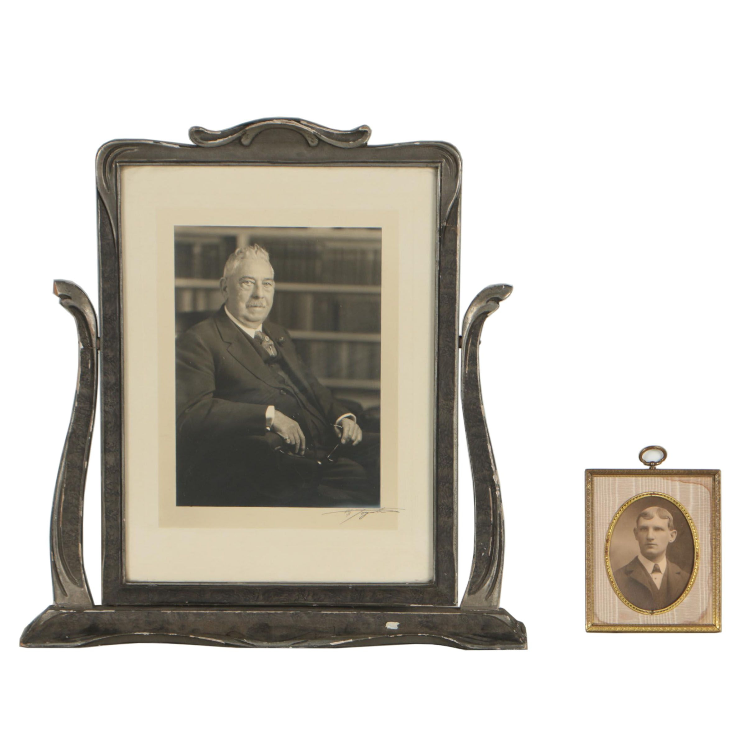 Silver Gelatin Portraits in Art Nouveau and Early 20th Century Frames