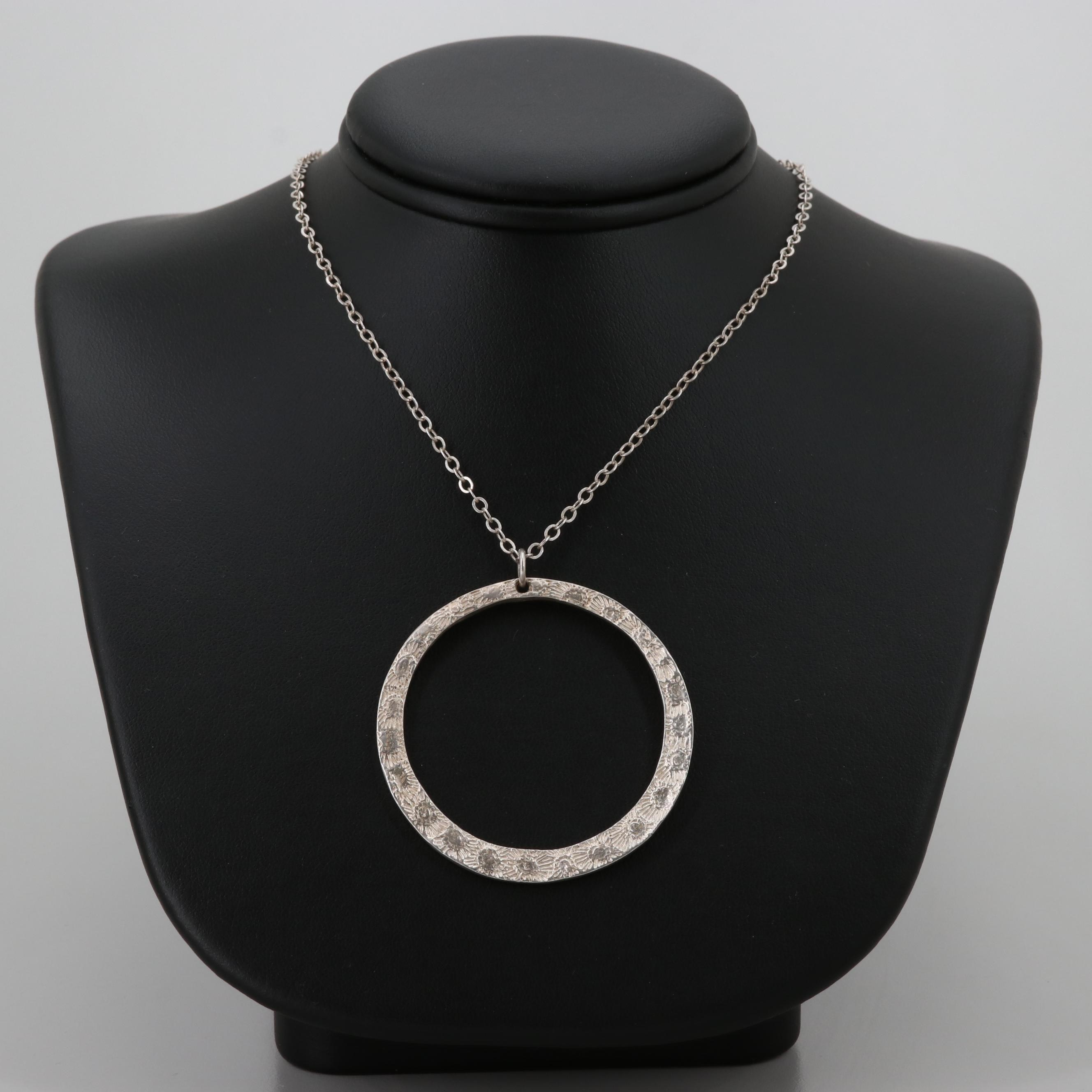 Sterling Silver Ring Pendant Necklace