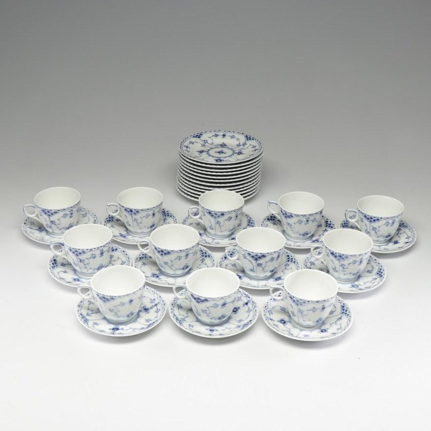 """Royal Copenhagen """"Full Lace"""" Porcelain Set"""