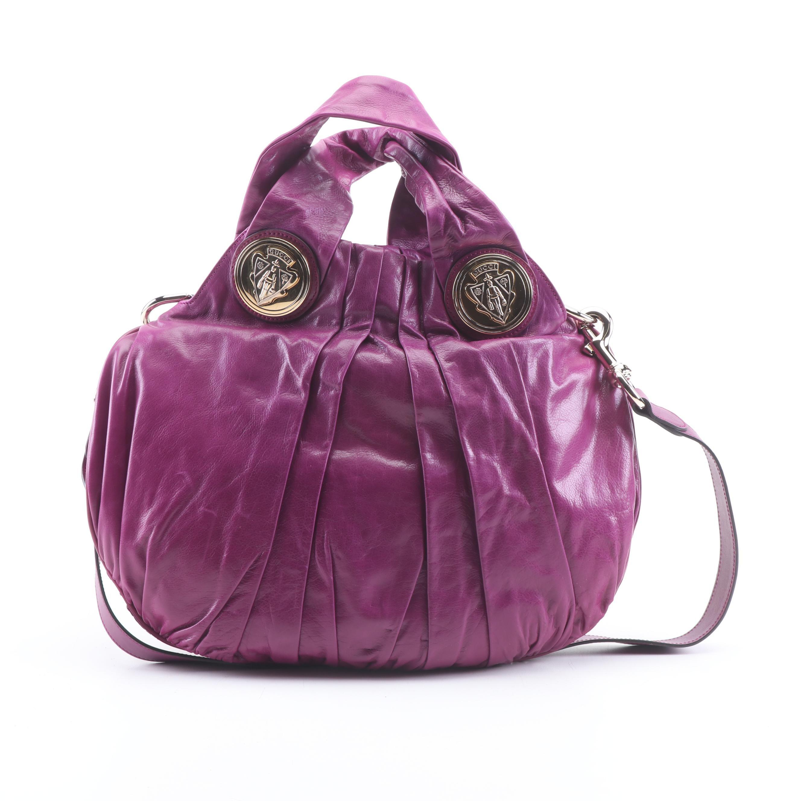 Gucci Magenta Leather Hysteria Shoulder Bag