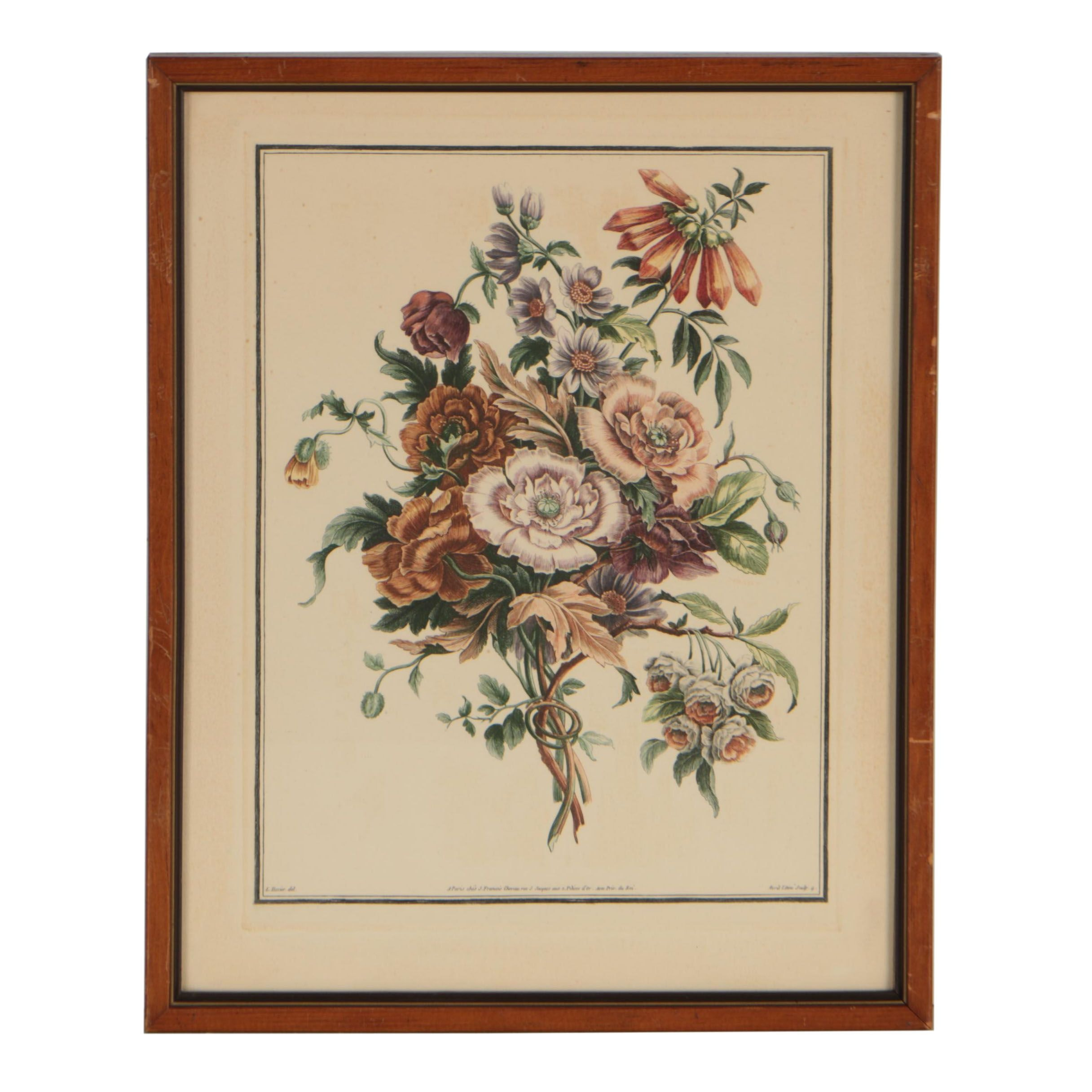 Early 19th Century Hand-Colored Etching after Louis Tessier