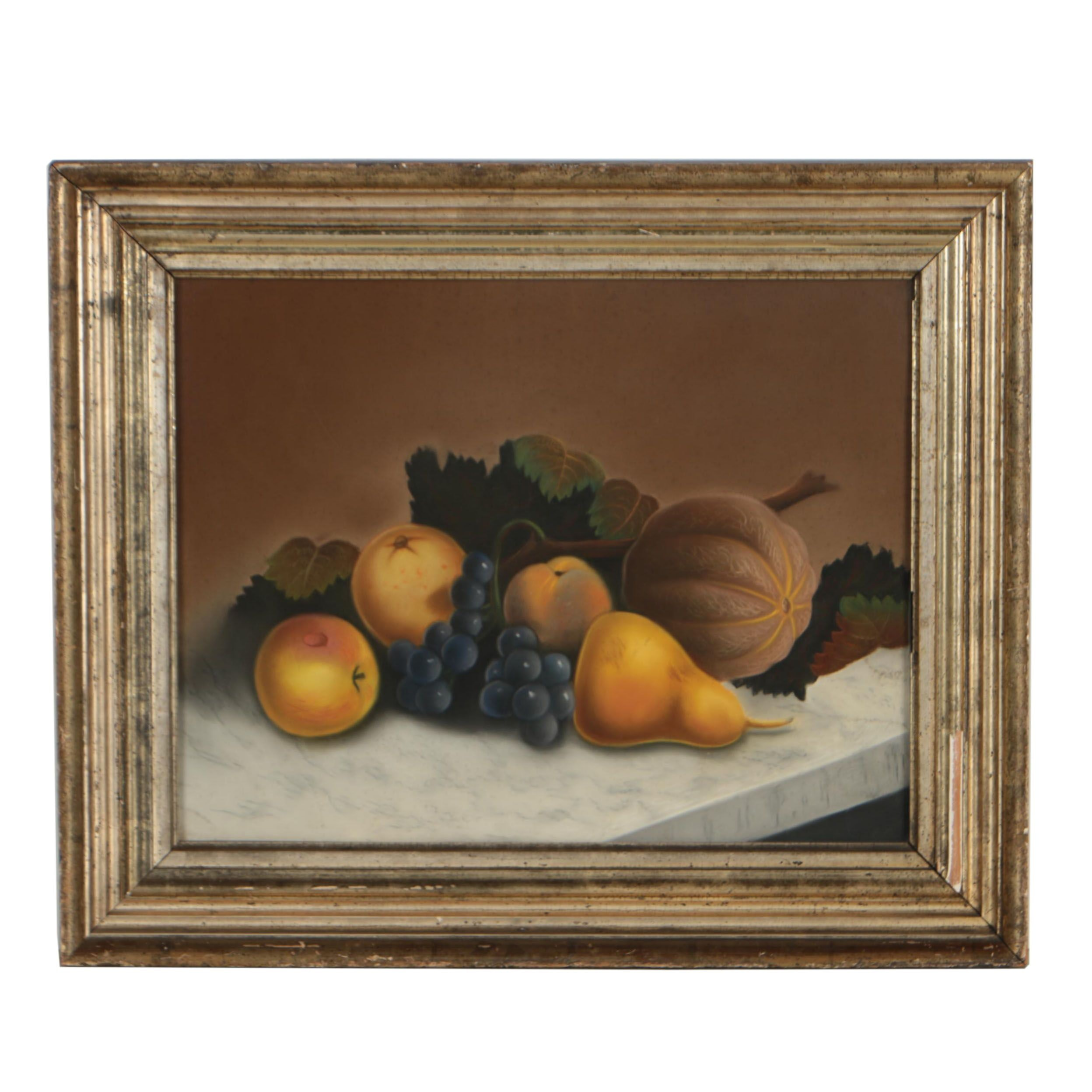 Early 20th Century Still Life Pastel Drawing