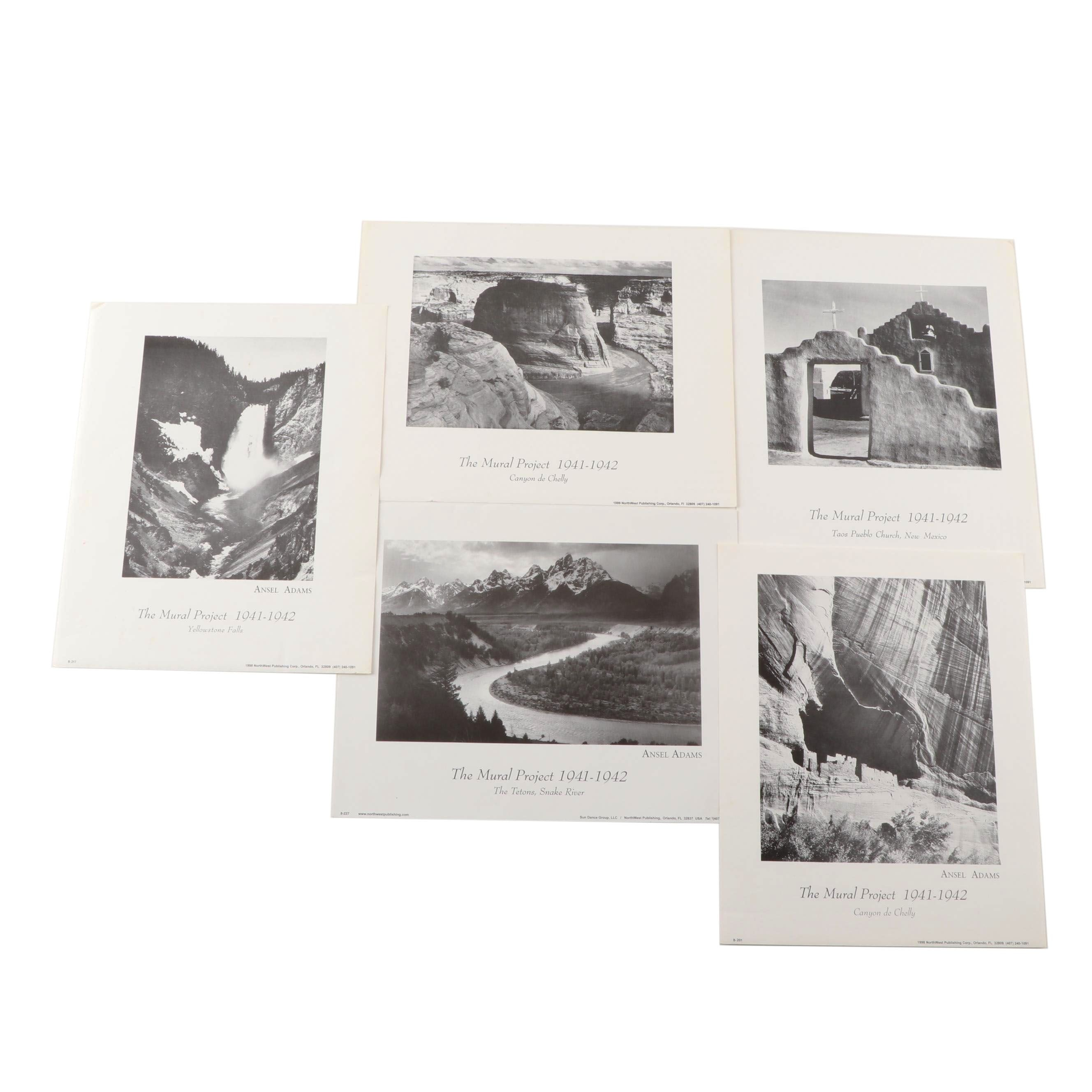 "Offset Lithographs after Ansel Adams ""Mural Project"""