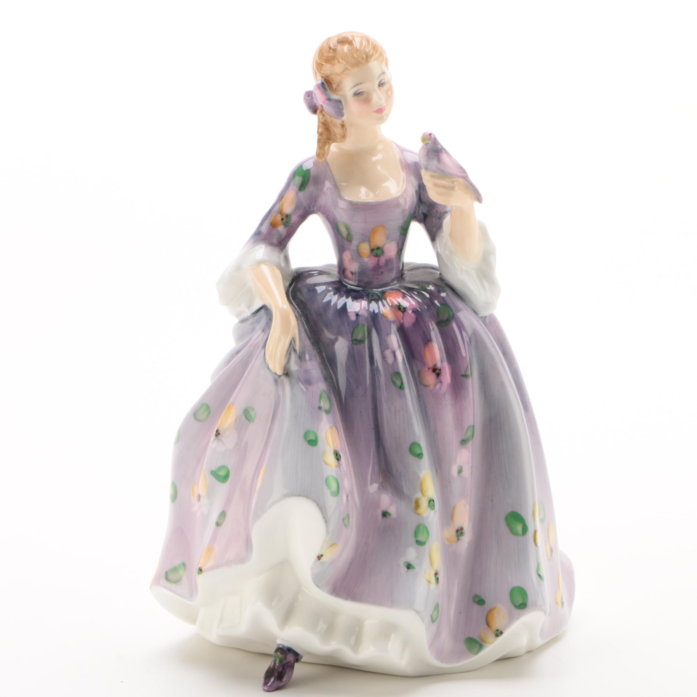"Royal Doulton ""Nicola"" Bone China Figurine Designed by Margaret Davies, 1977"