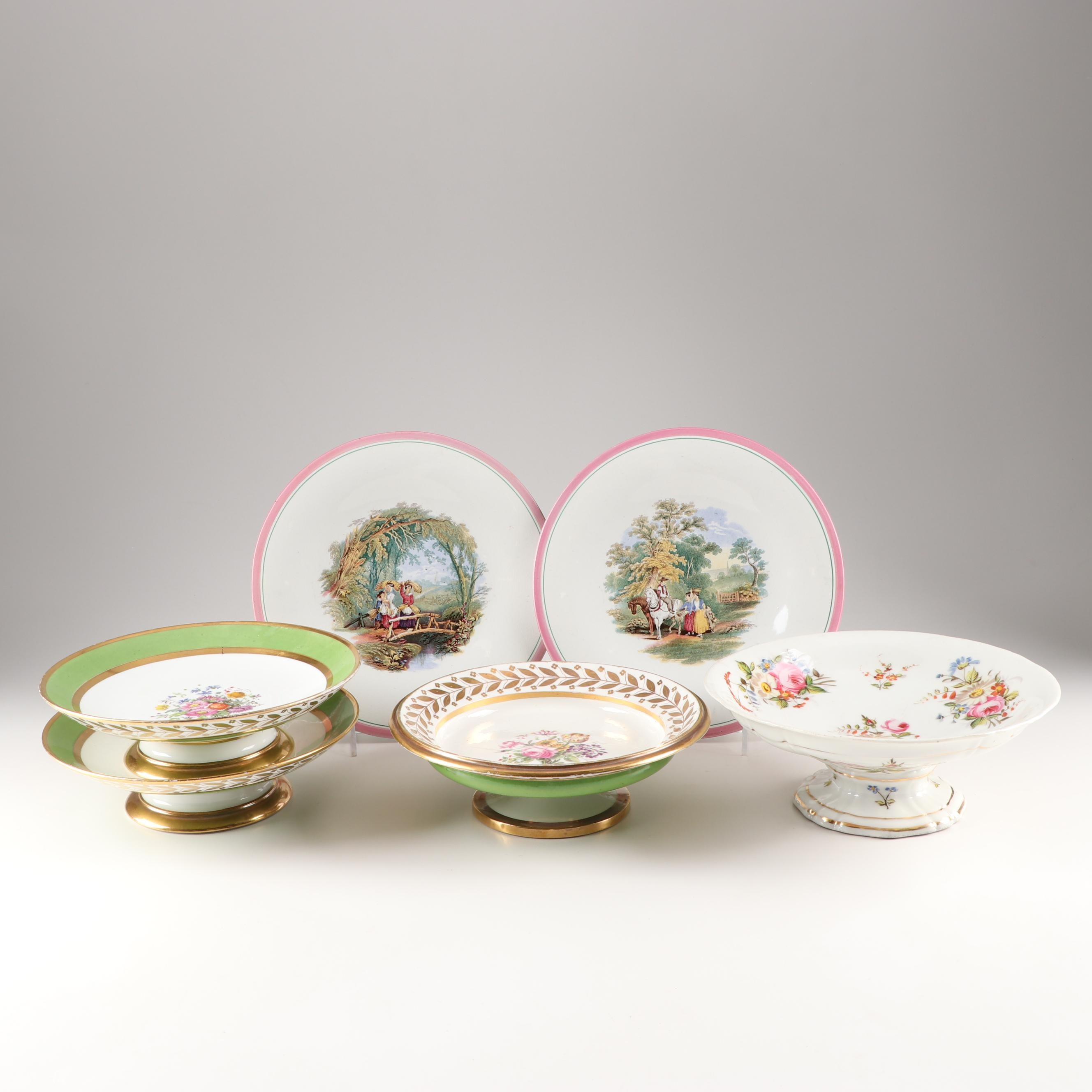 Decorative Compotes and Tableware Featuring Sevres