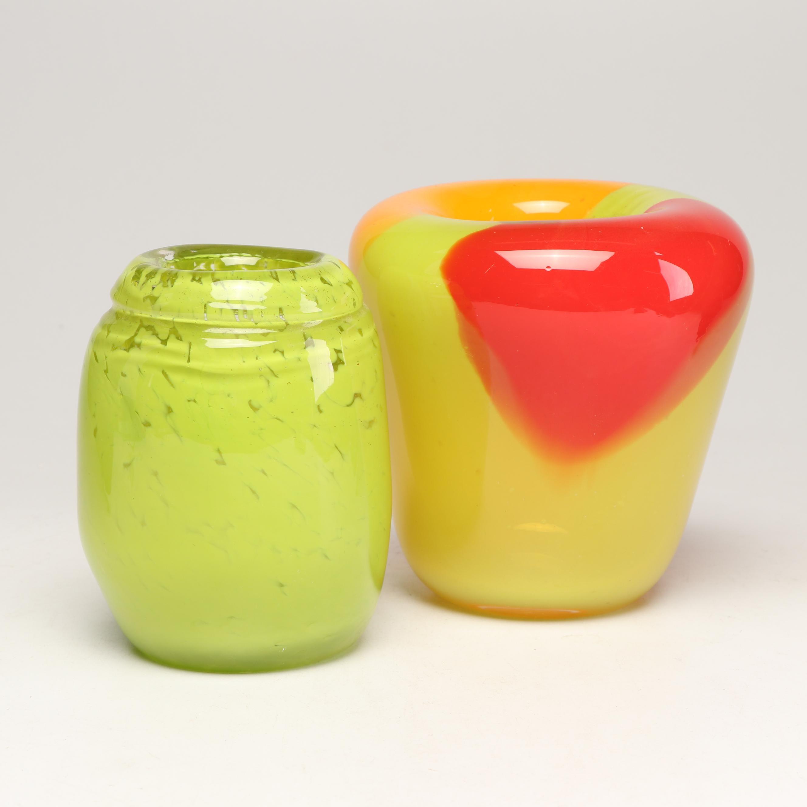 Art Glass Vases by Raymond Raines
