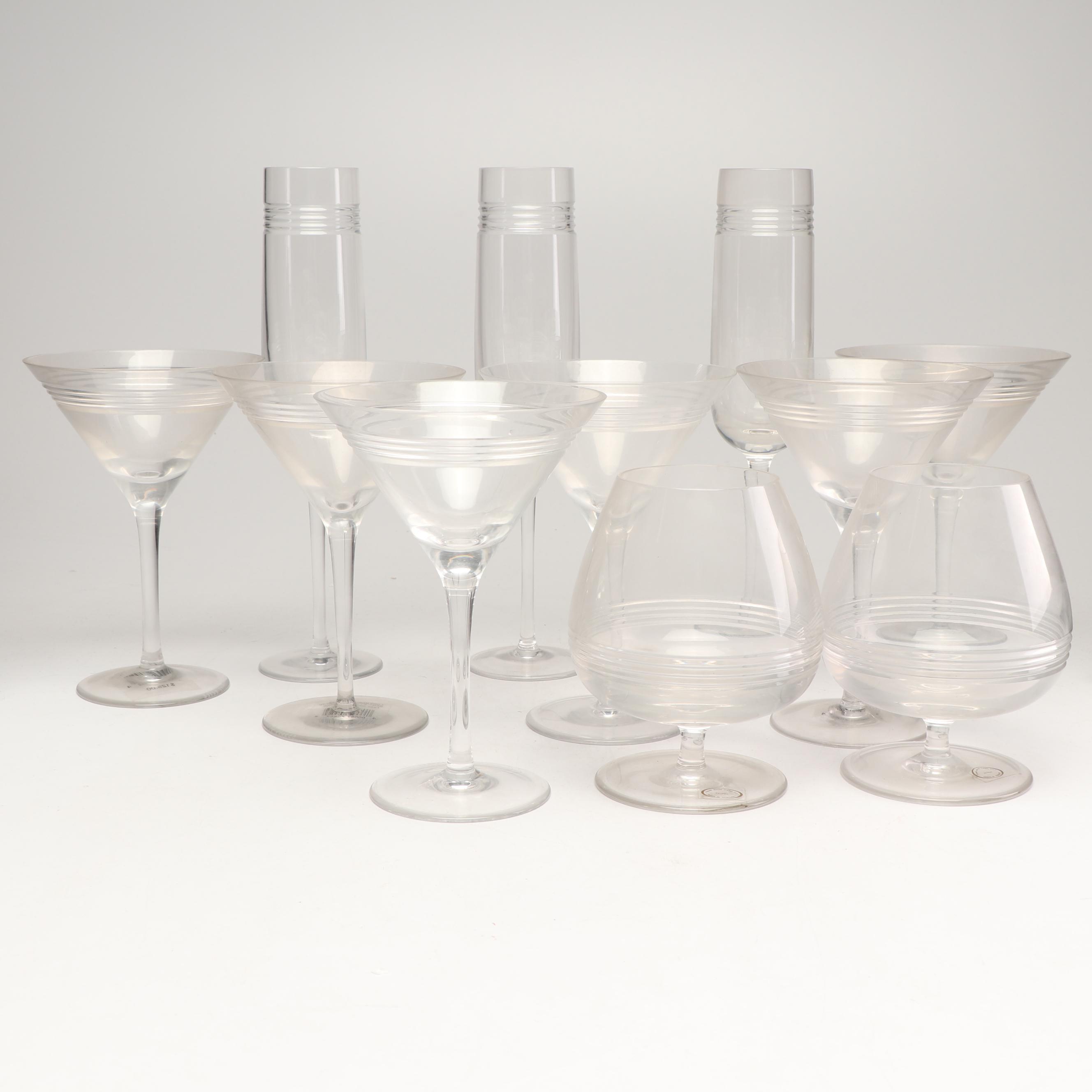 """Ralph Lauren Home """"Bentley"""" Crystal Stemware, Contemporary"""