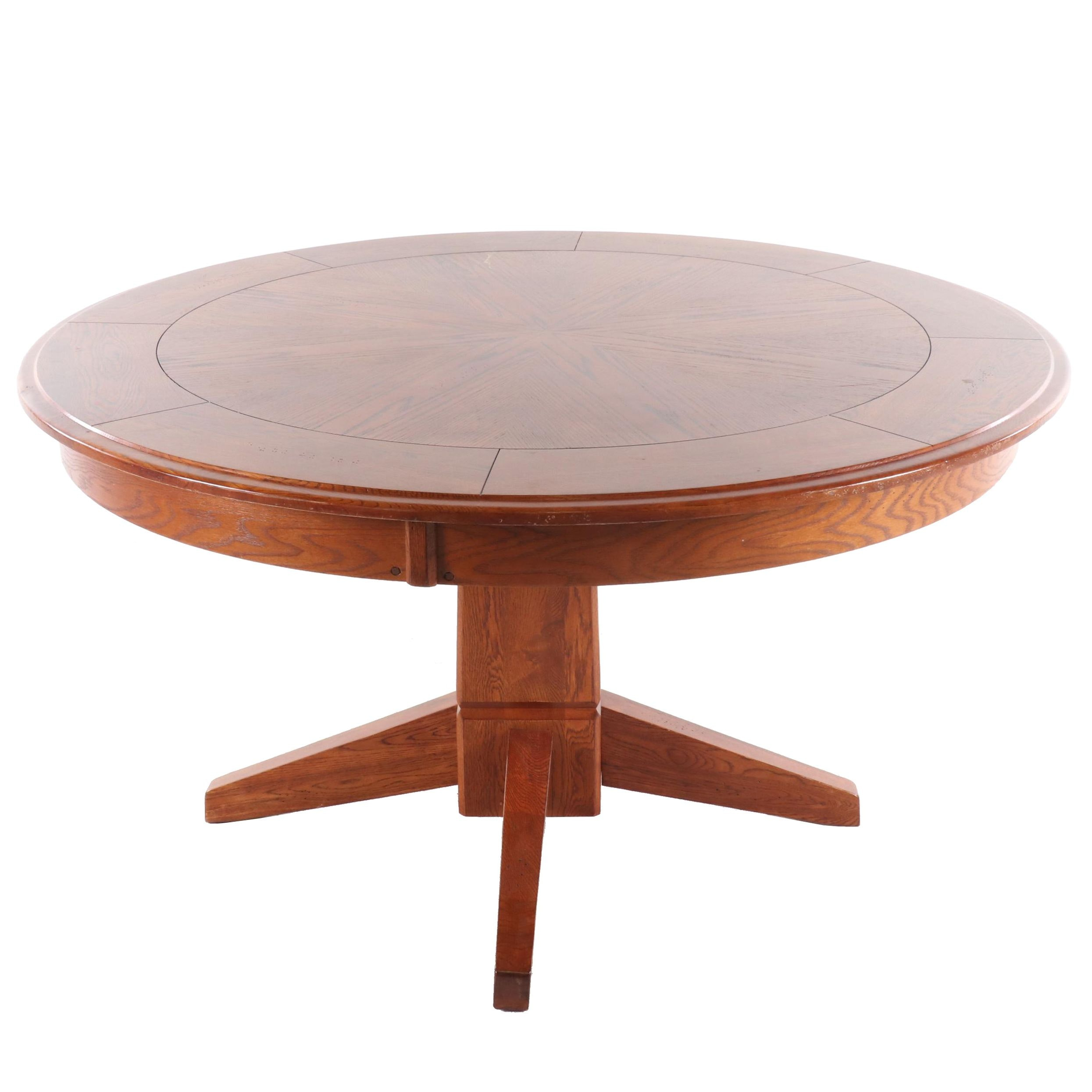 Contemporary Flip Top Oak Poker Table