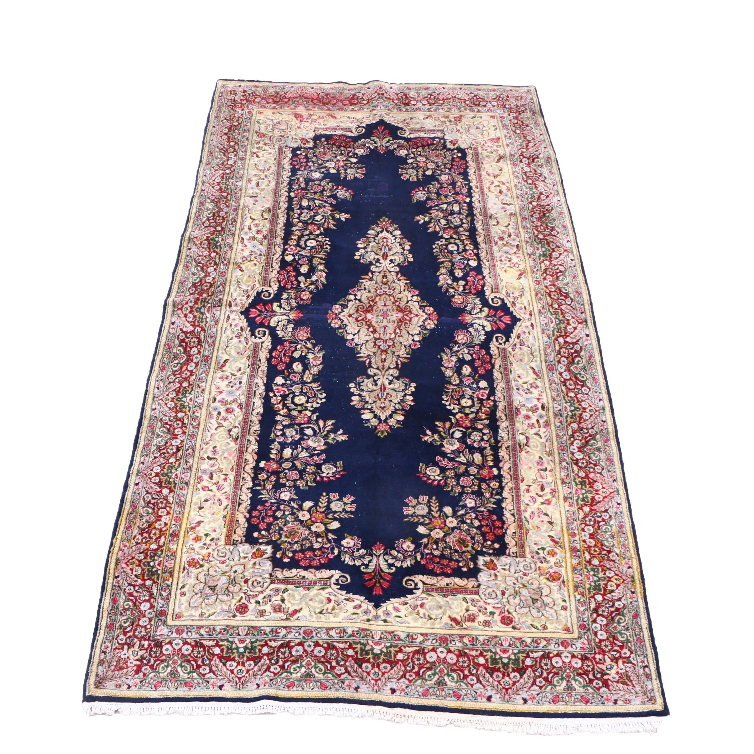 Hand-Knotted Sino-Persian Floral Wool Rug