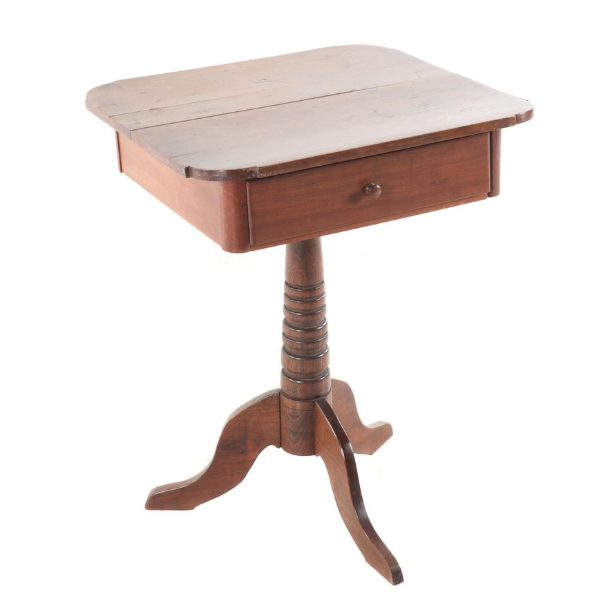 Queen Anne Style Mixed Wood Table, Early 20th Century