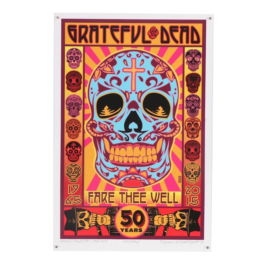 "David Edward Byrd Giclée ""The Grateful Dead 50th Year Concerts, 1965 - 2015"""