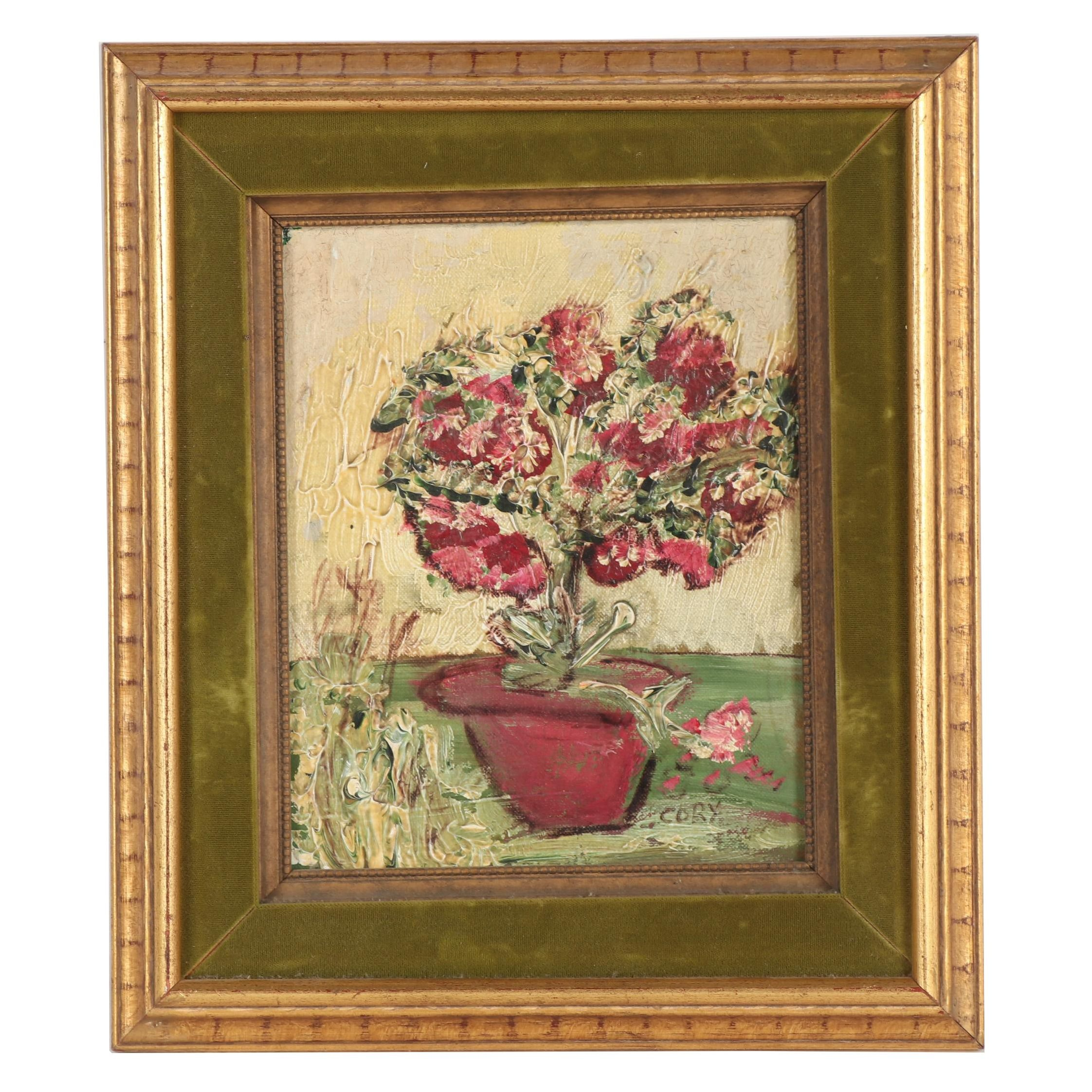 Ed Cory Oil Painting of Floral Still Life
