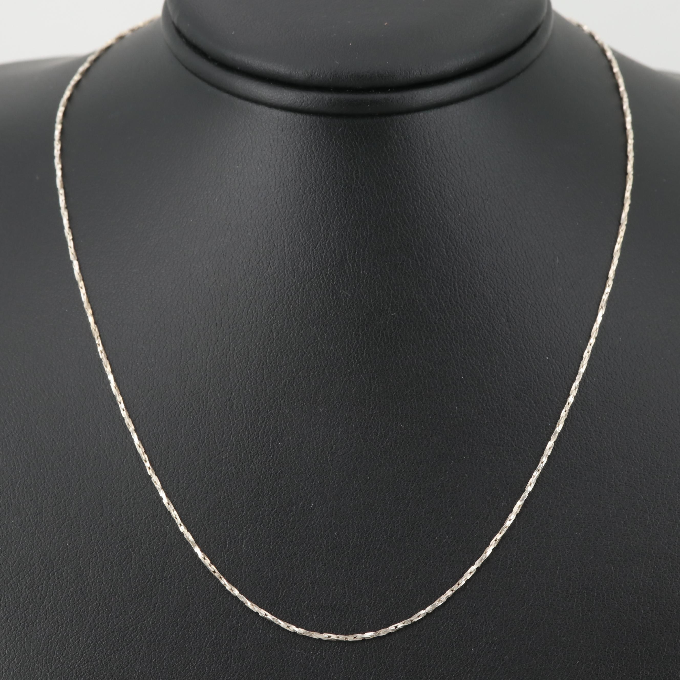 Sterling Silver Twisted Cobra Chain Necklace