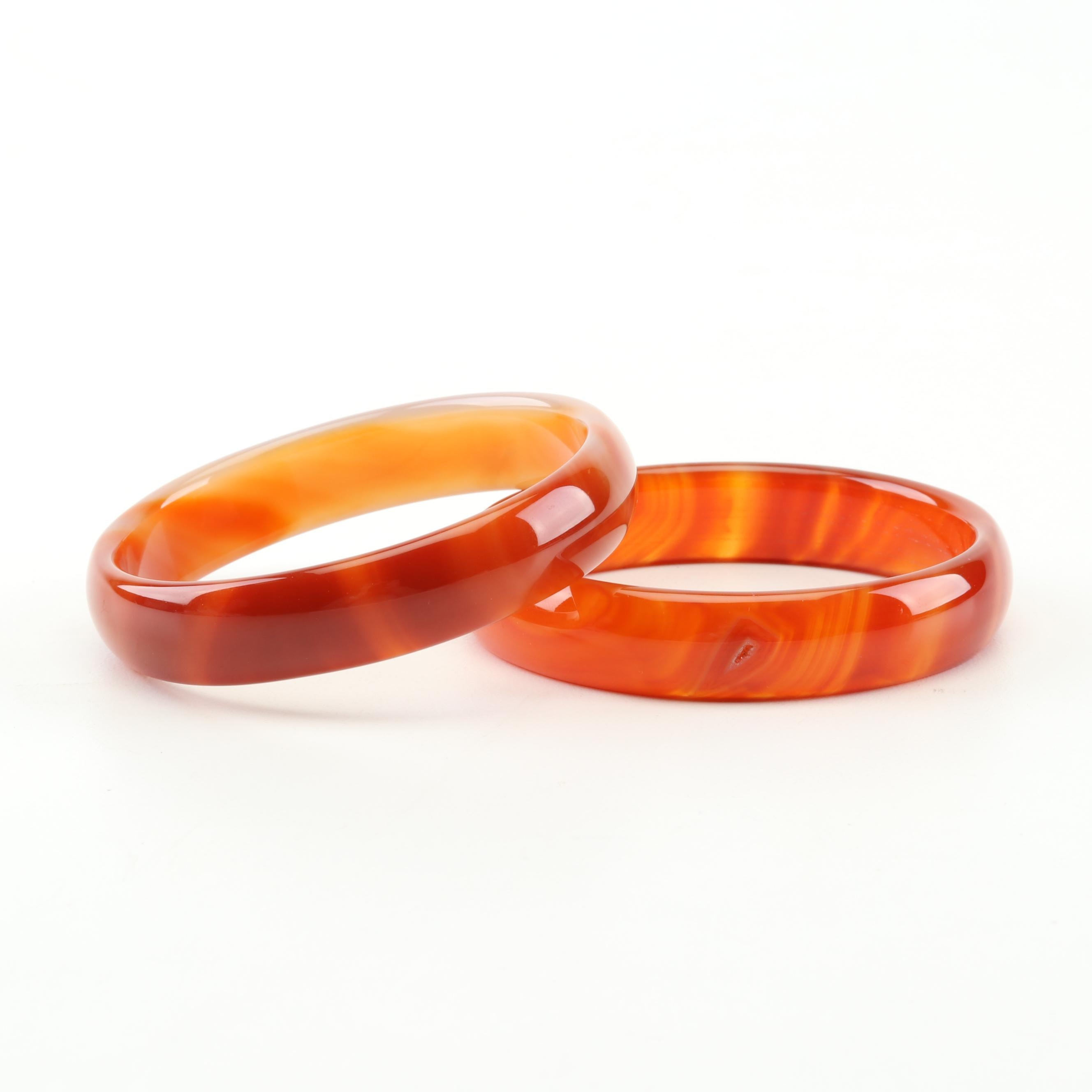 Banded Agate Bangle Bracelets