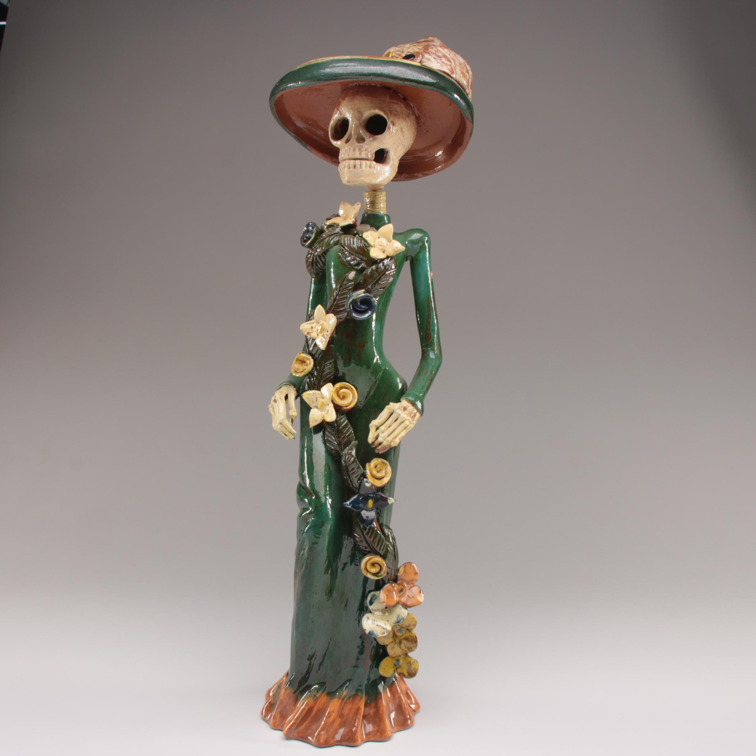 Day of the Dead Mexican Ceramic Sculpture