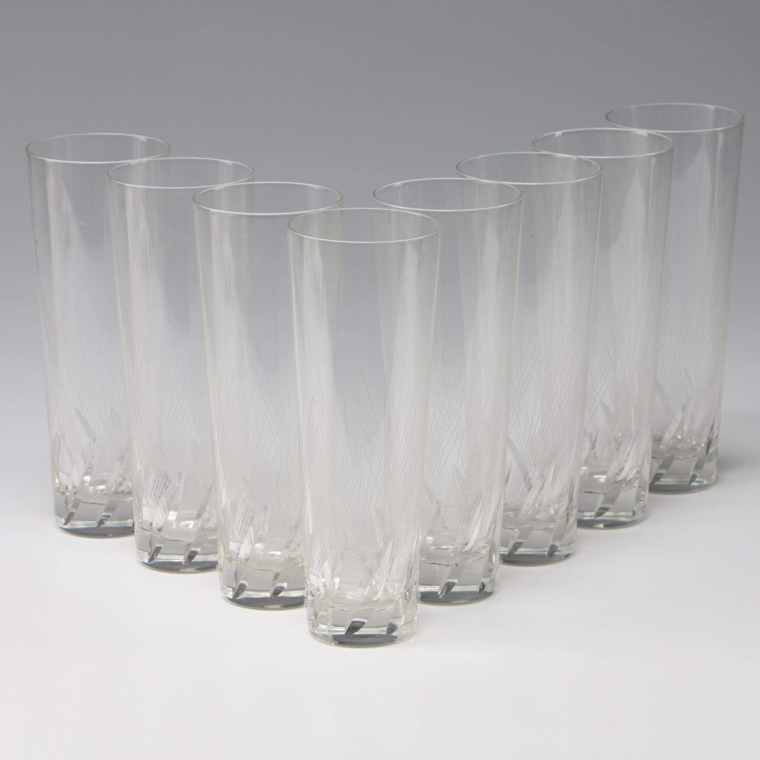 Cut and Etched Glass Tumblers