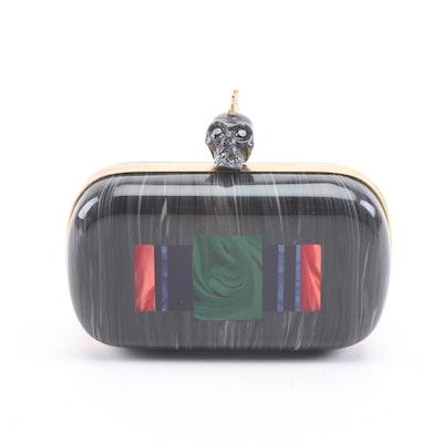 33410a4b9fac Alexander McQueen Marble Effect Punk Skull Plexiglass Clutch. Pickup  Available EBTH Boston