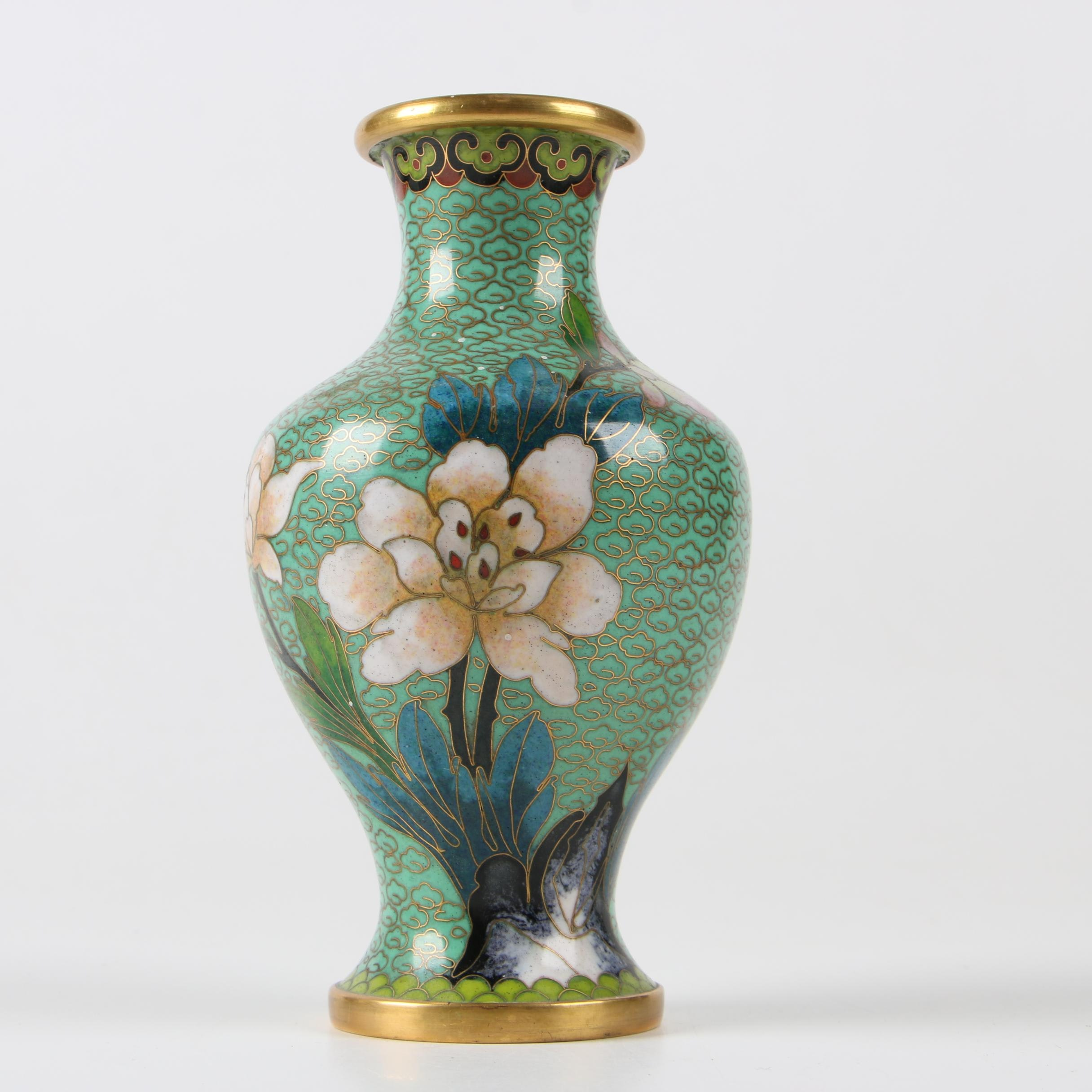 Chinese Cloisonné Bud Vase