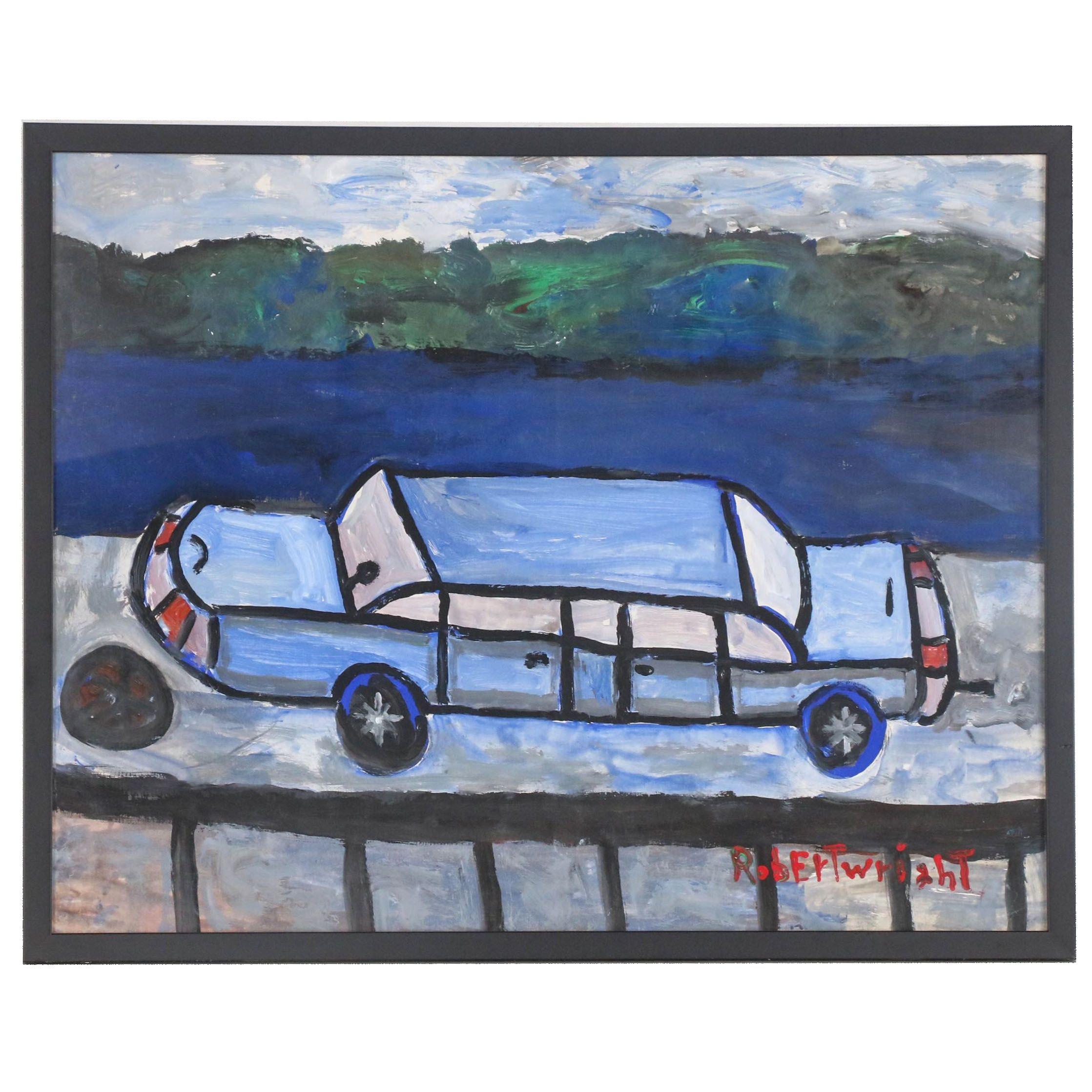 Robert Wright Folk Acrylic Painting