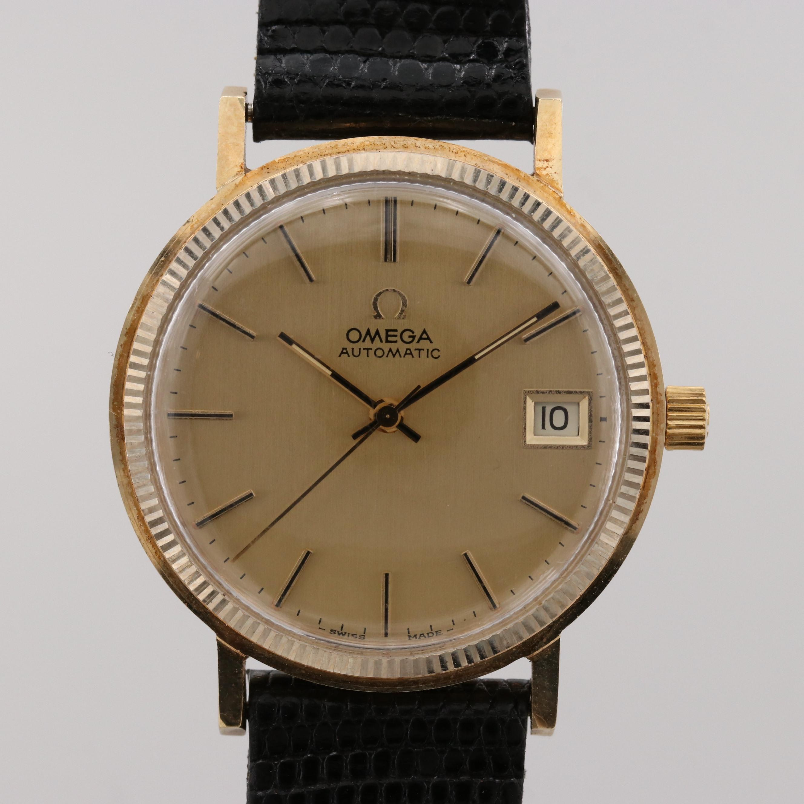 Vintage Omega 14K Yellow Gold Automatic Wristwatch