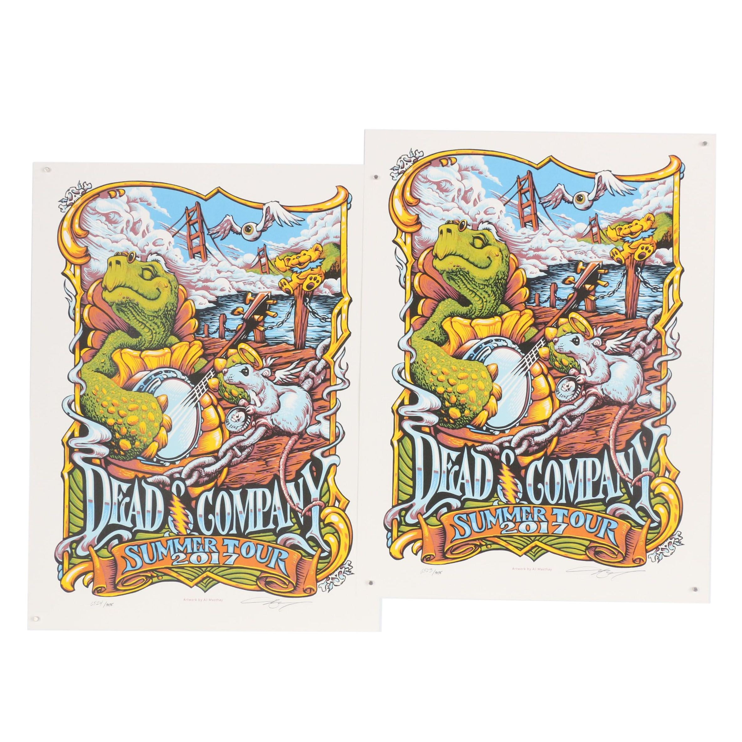 """AJ Masthay """"Dead & Company Summer Tour 2017"""" Serigraphs, Tickets, and Recordings"""