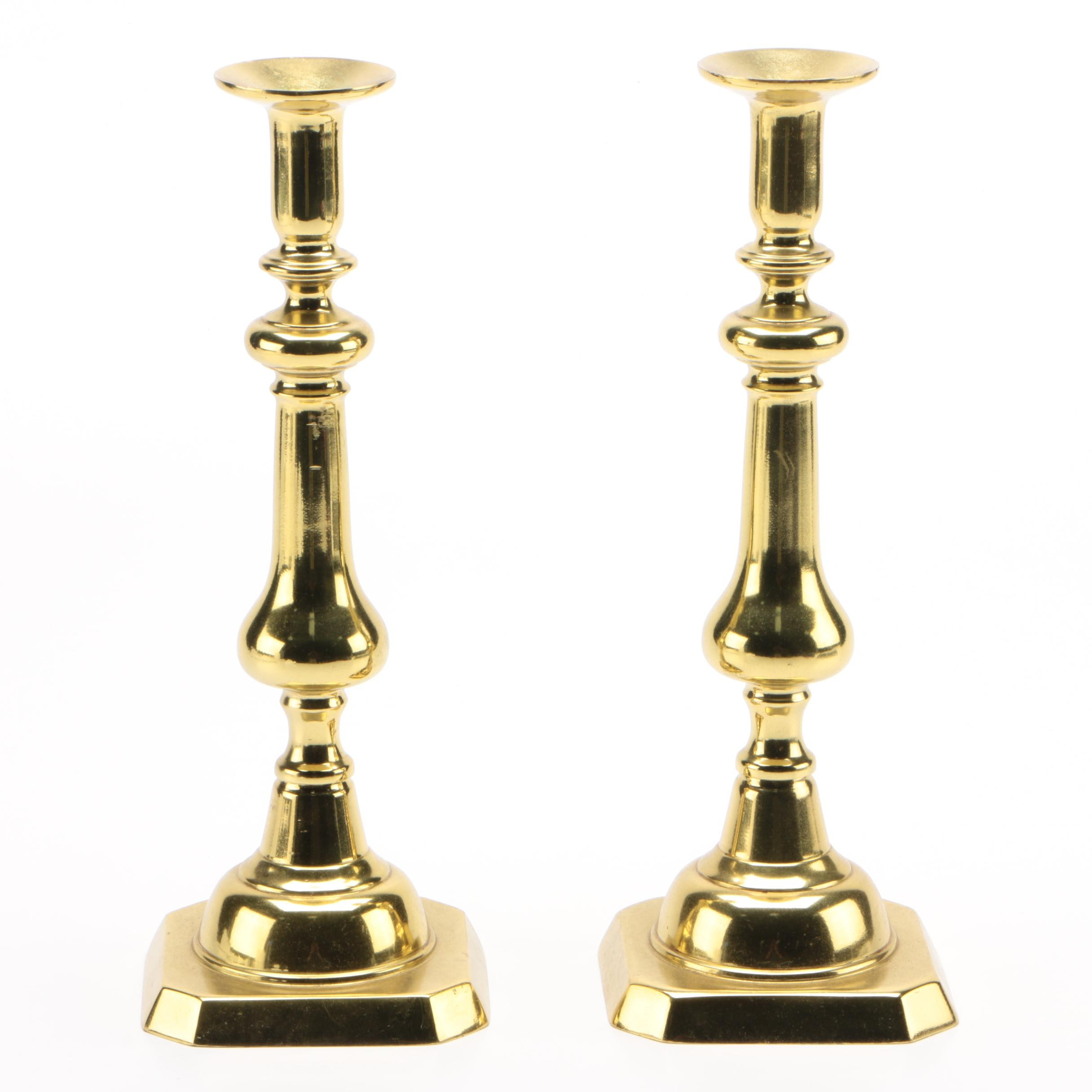 Pair of Harvin Solid Brass Candlesticks