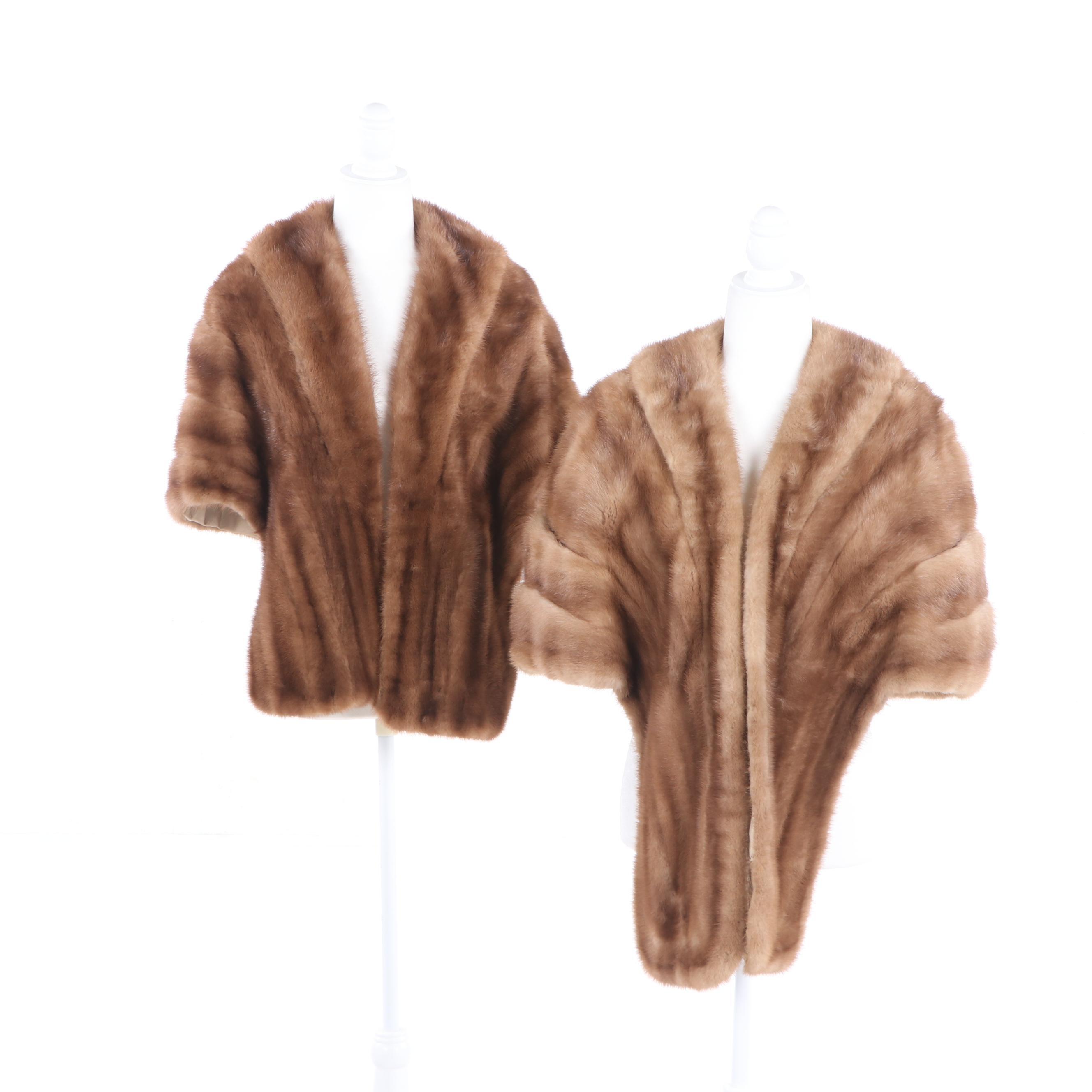 Women's Mink Fur Stoles Including Jordan Marsh, Vintage