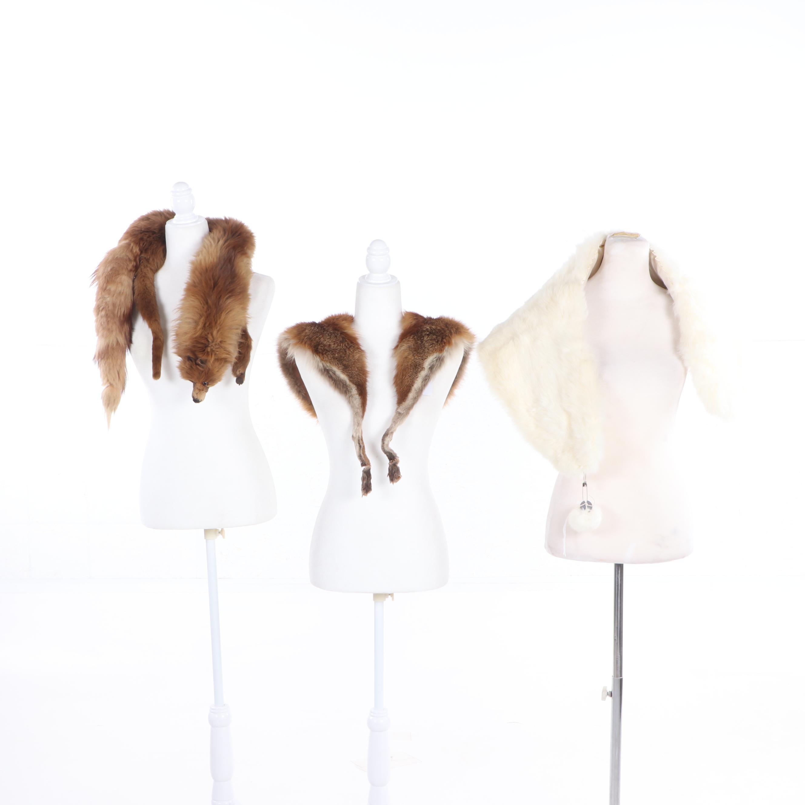 Women's Fox Fur Stoles, Vintage