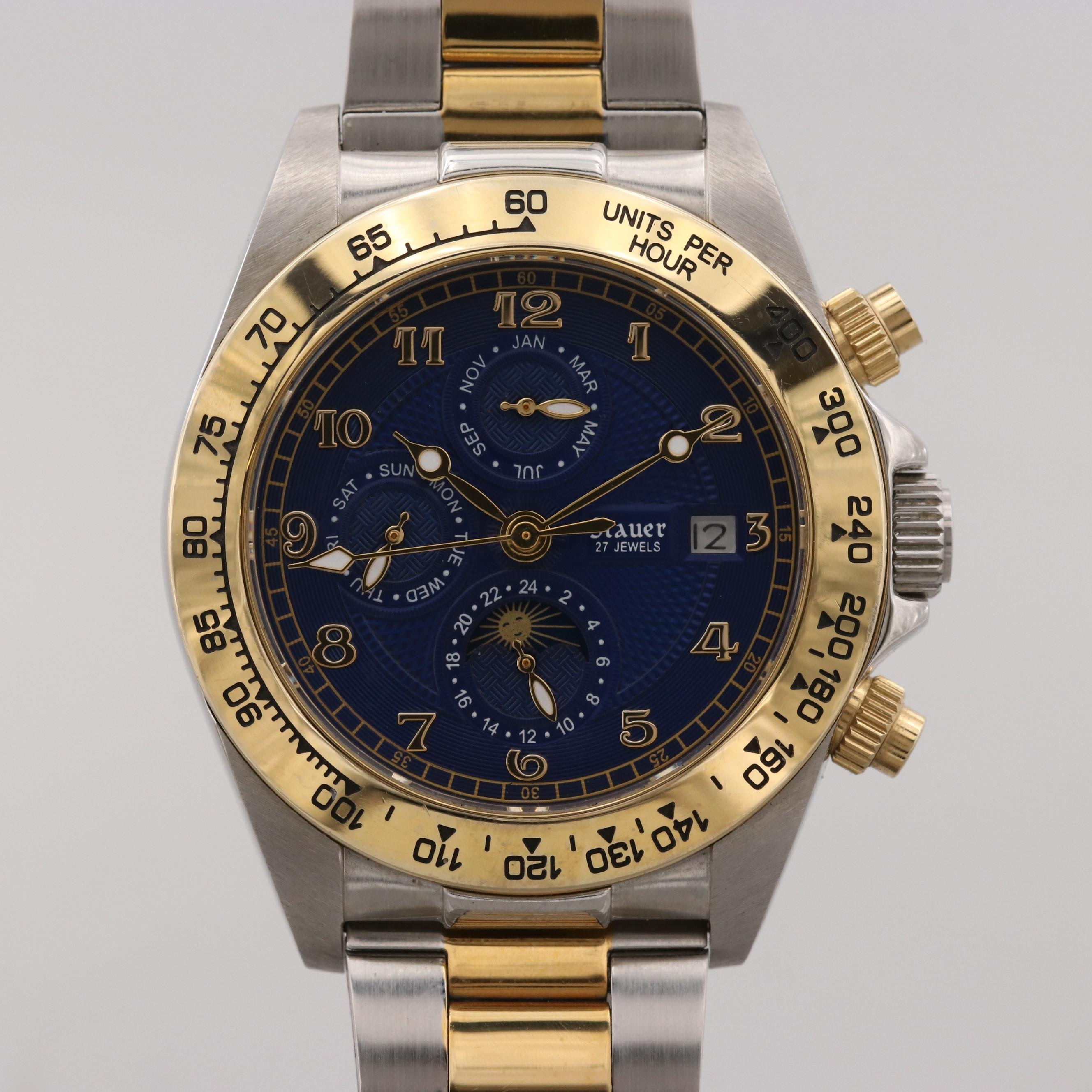 Stauer Corso Two Tone Automatic Multi function Wristwatch