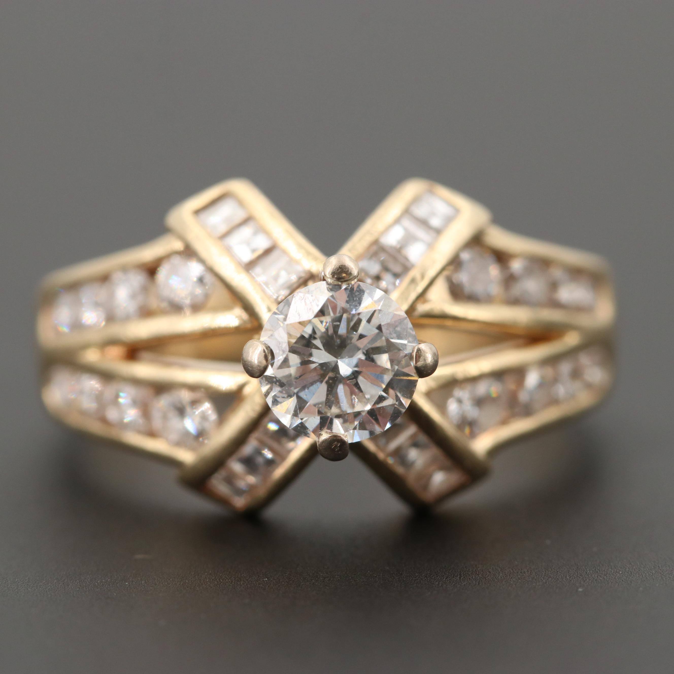 14K Yellow Gold 1.53 CTW Diamond Ring