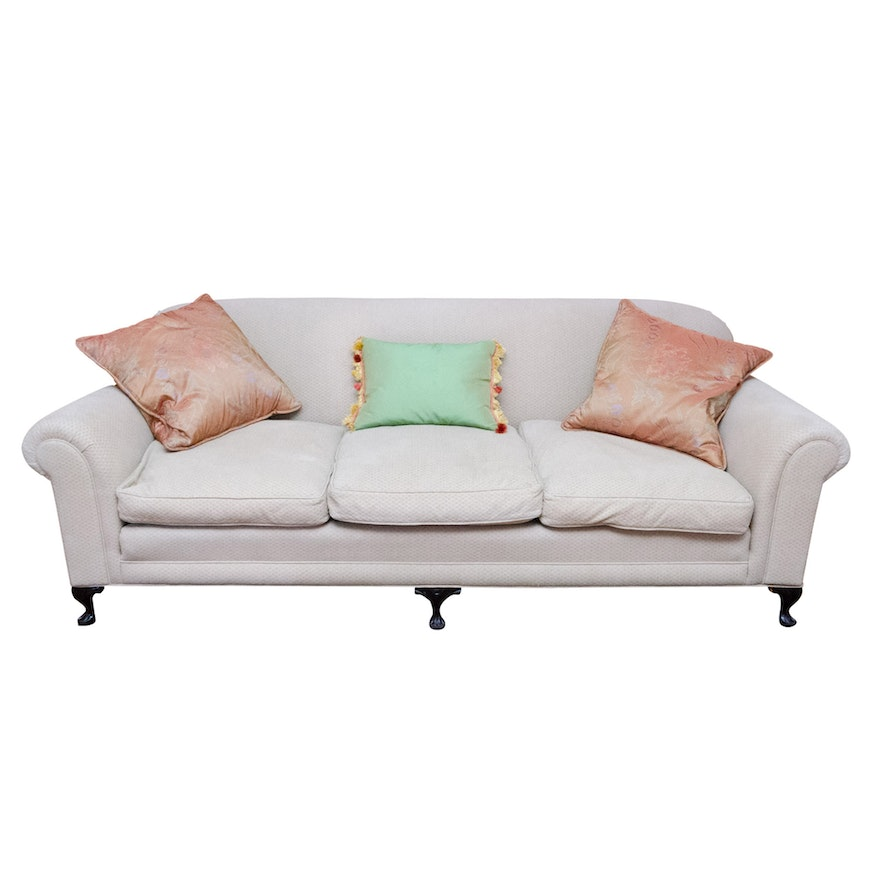 Upholstered Sofa With Down Filled Seat Cushions Ebth