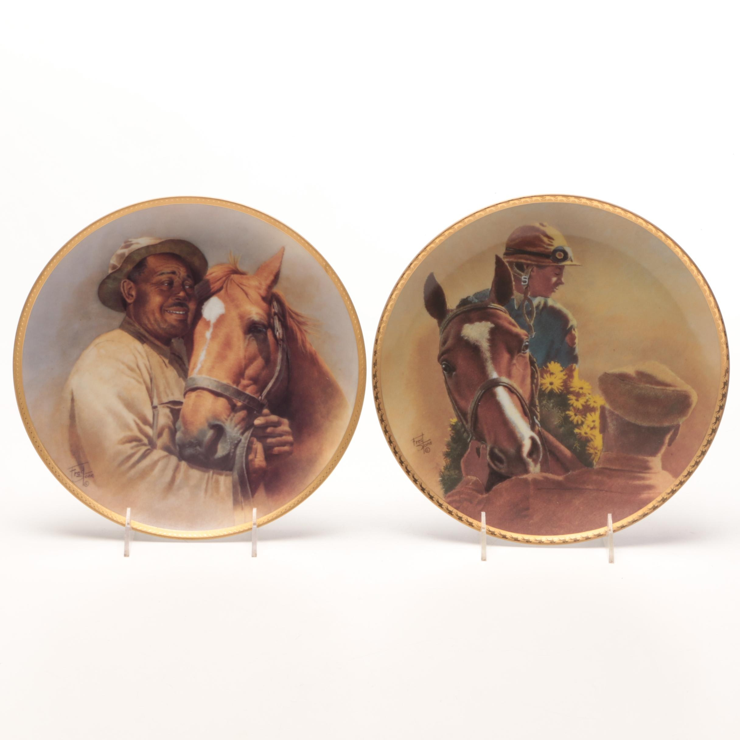 Fred Stone Man O' War and Northern Dancer American Artist Collector Plates